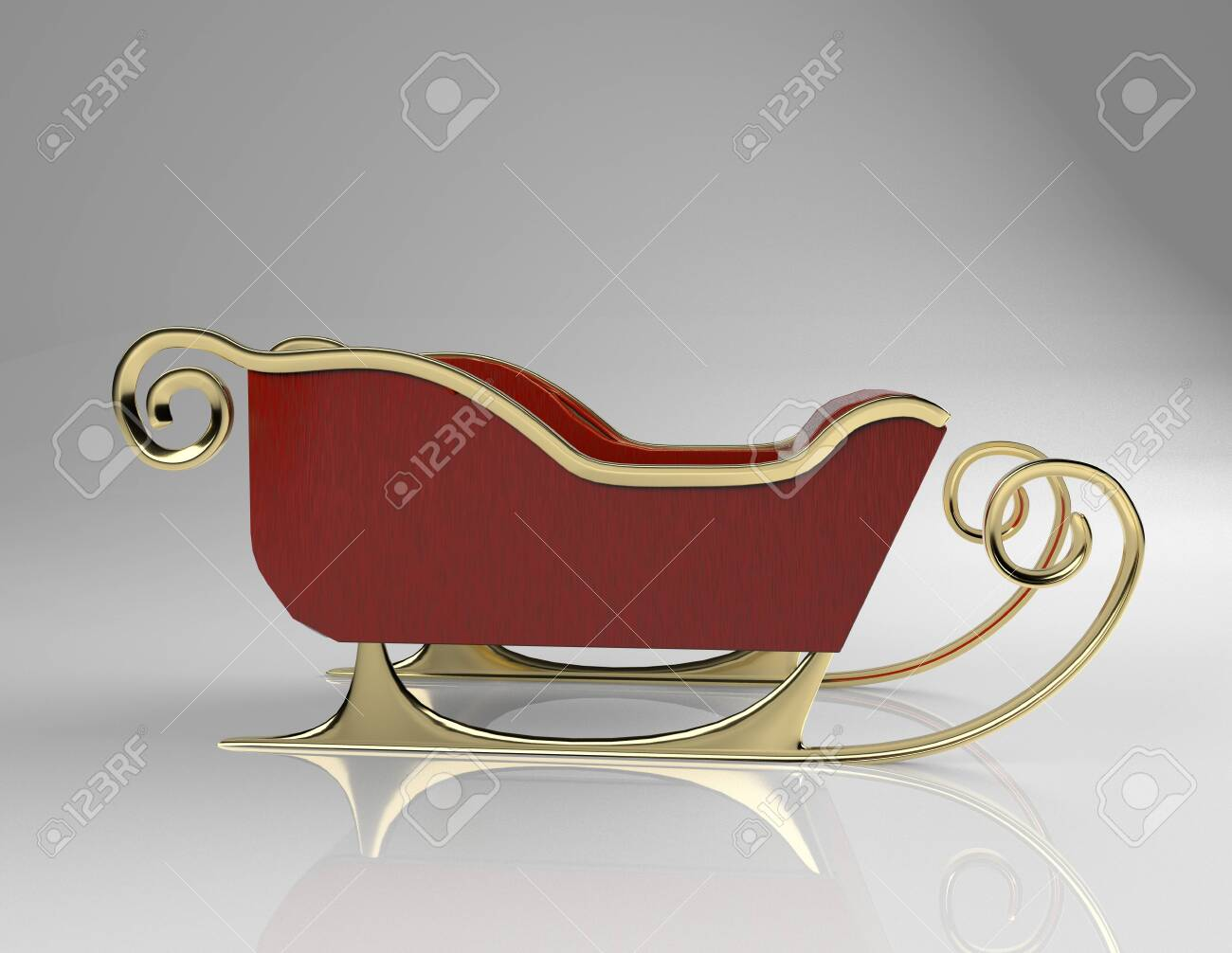 The christmas sliegh,3d render. - 137047402
