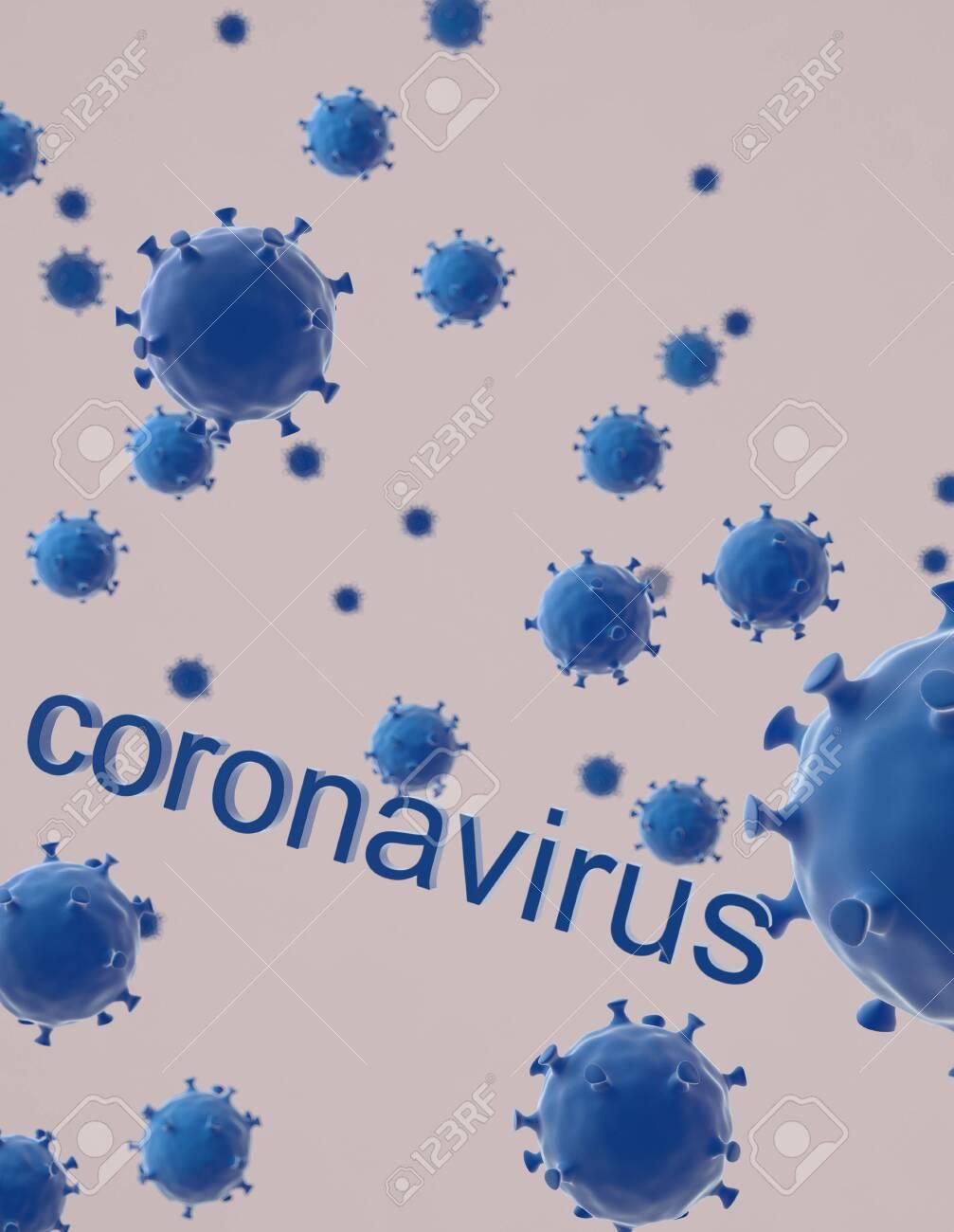 The coronavirus on white baground,3d render. - 140757807