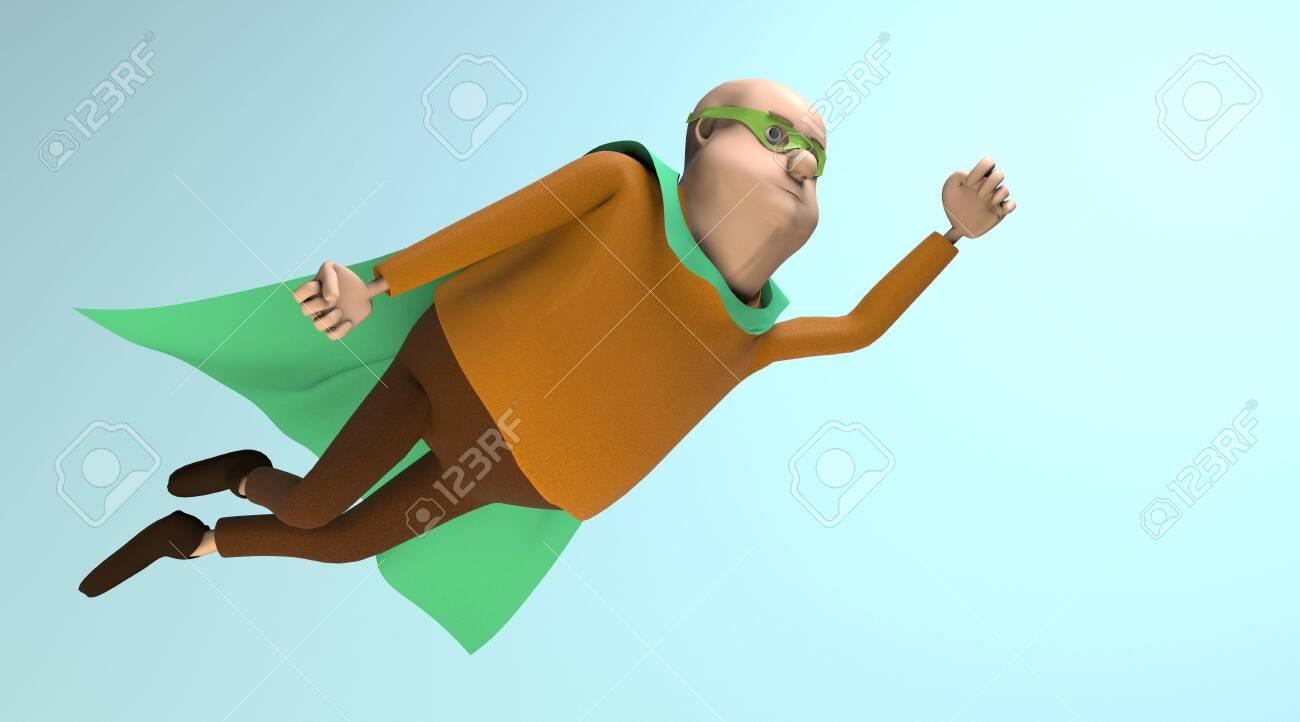 The fat superhero flying - 147647416