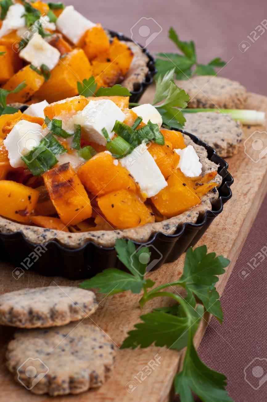 Small cheese pumpkin pie Stock Photo - 15817666