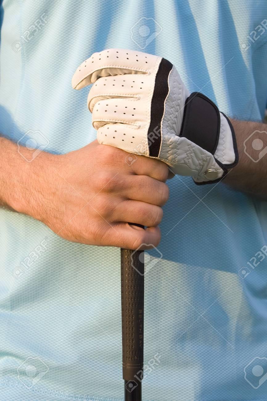Zwei Hände Greifen Golf Club - Vertikal Gerahmte Foto Lizenzfreie ...