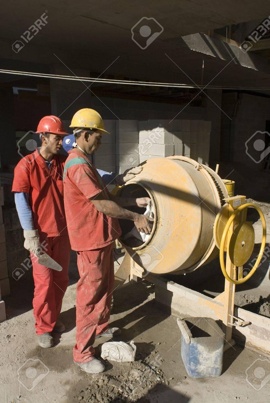 Orange Cement Mixer Work With Cement Mixer to