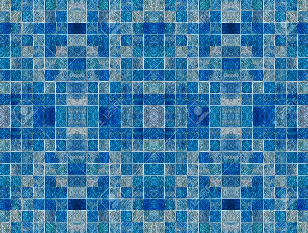 Vintage Ceramic Tiles Wall Decoration Stock Photo, Picture And ...