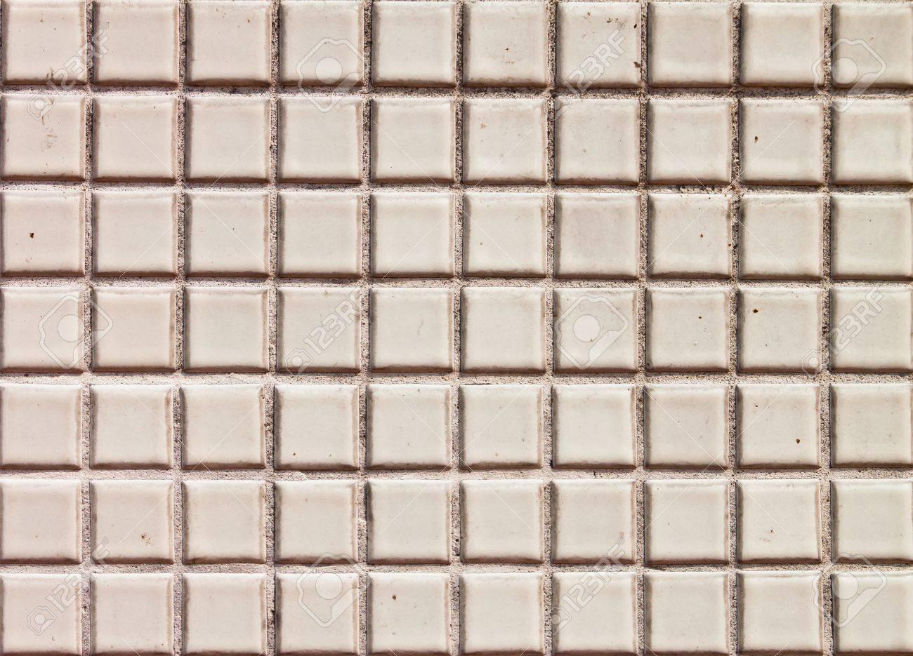 Seamless White Square Tiles Texture Stock Photo