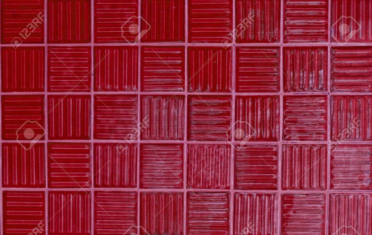 red tiles texture background Stock Photo - 13749150