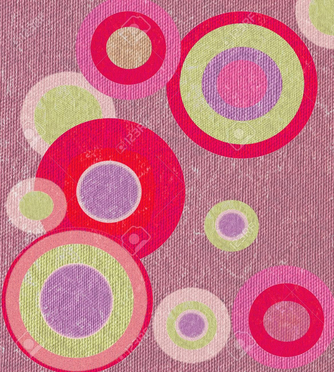 Seamless circle shape retro design Stock Photo - 14002679