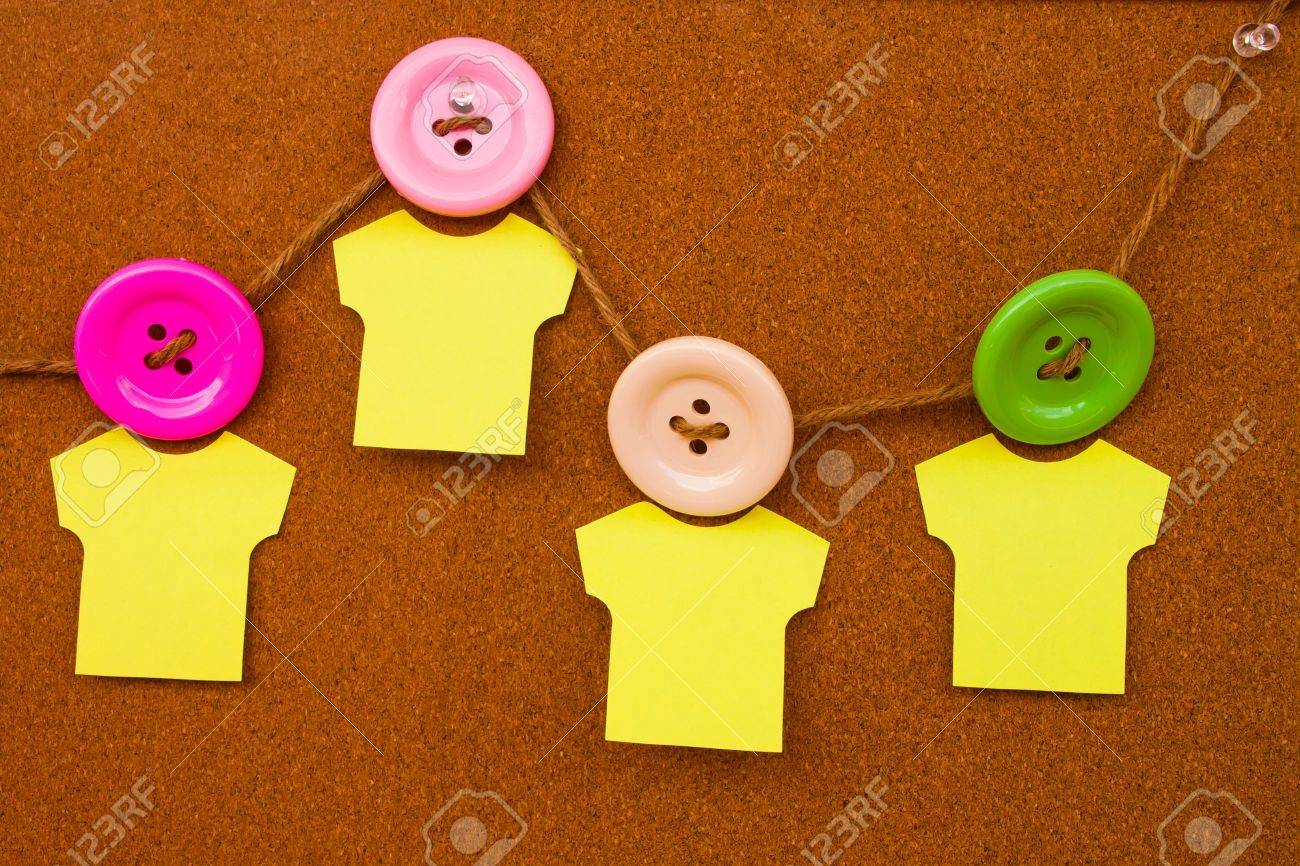 Cork bulletin board with notes and clasper Stock Photo - 14759197