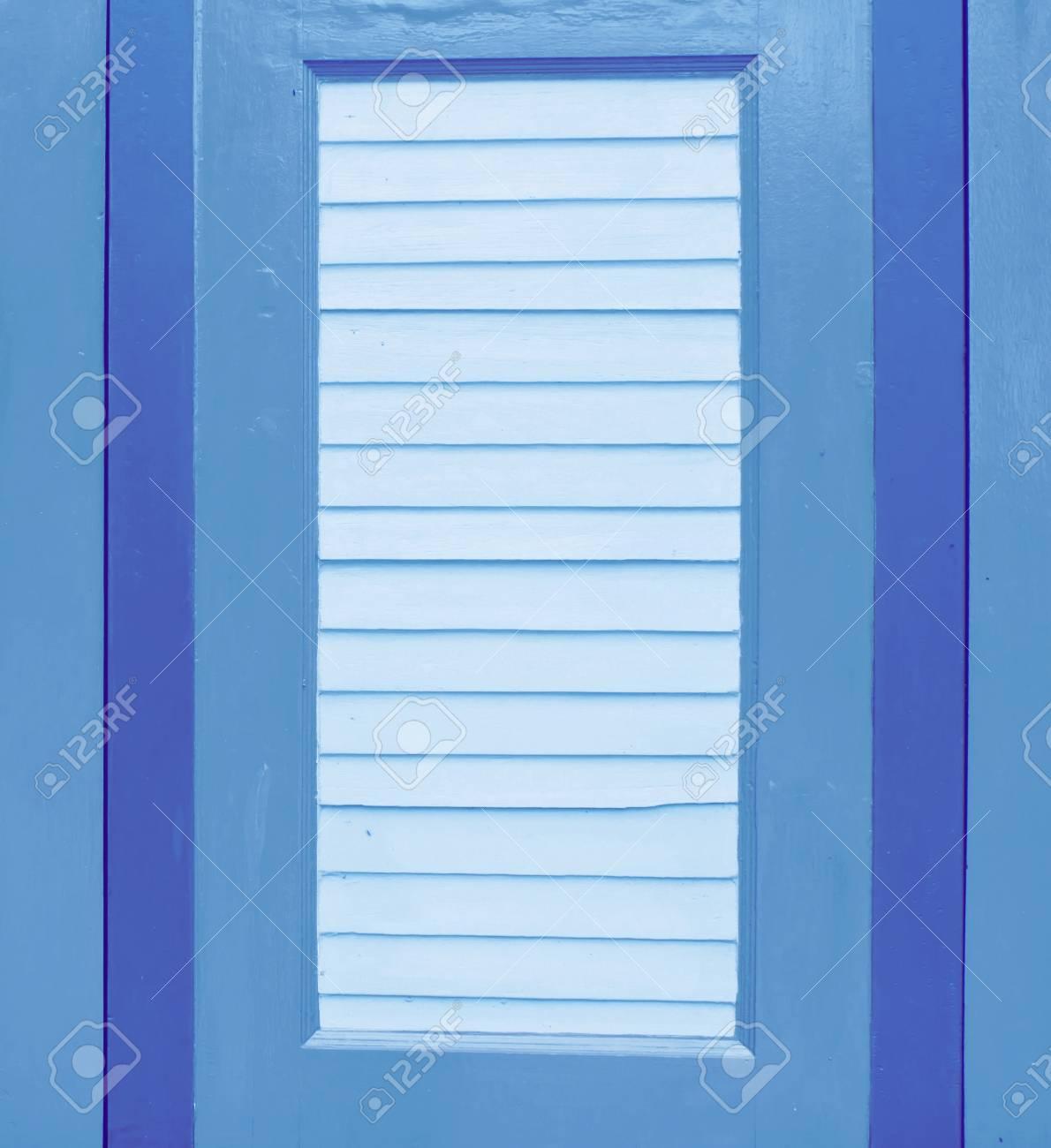 blue wooden window Stock Photo - 15802564