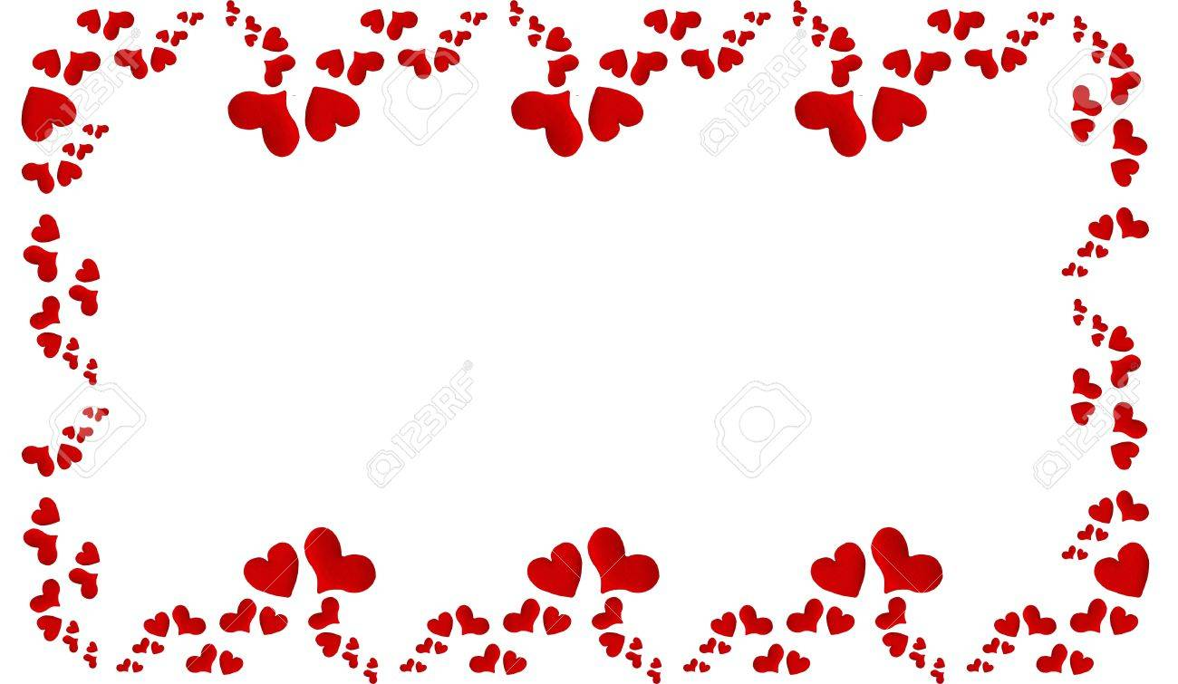 Lovely Heart Frame For Your Design Postcard Stock Photo, Picture And ...