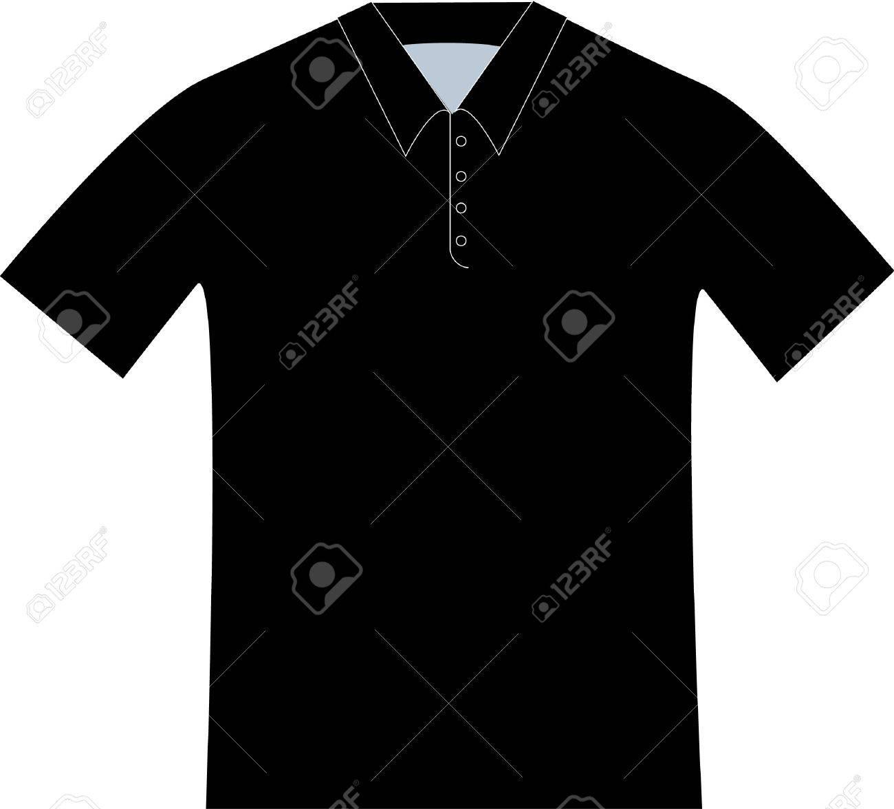 Dessin polo vetement - Motif Dessin D Une Chemise Polo Noir Banque D Images 4201869