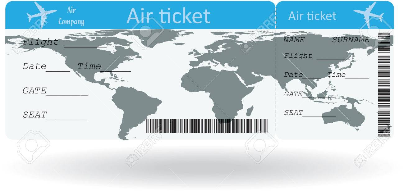 Variant of air ticket isolated on white. Vector illustration - 27907214