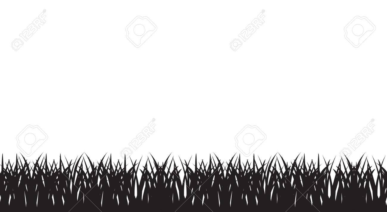 vector seamless illustration of of silhouette of grass border royalty free cliparts vectors and stock illustration image 43147570 123rf com