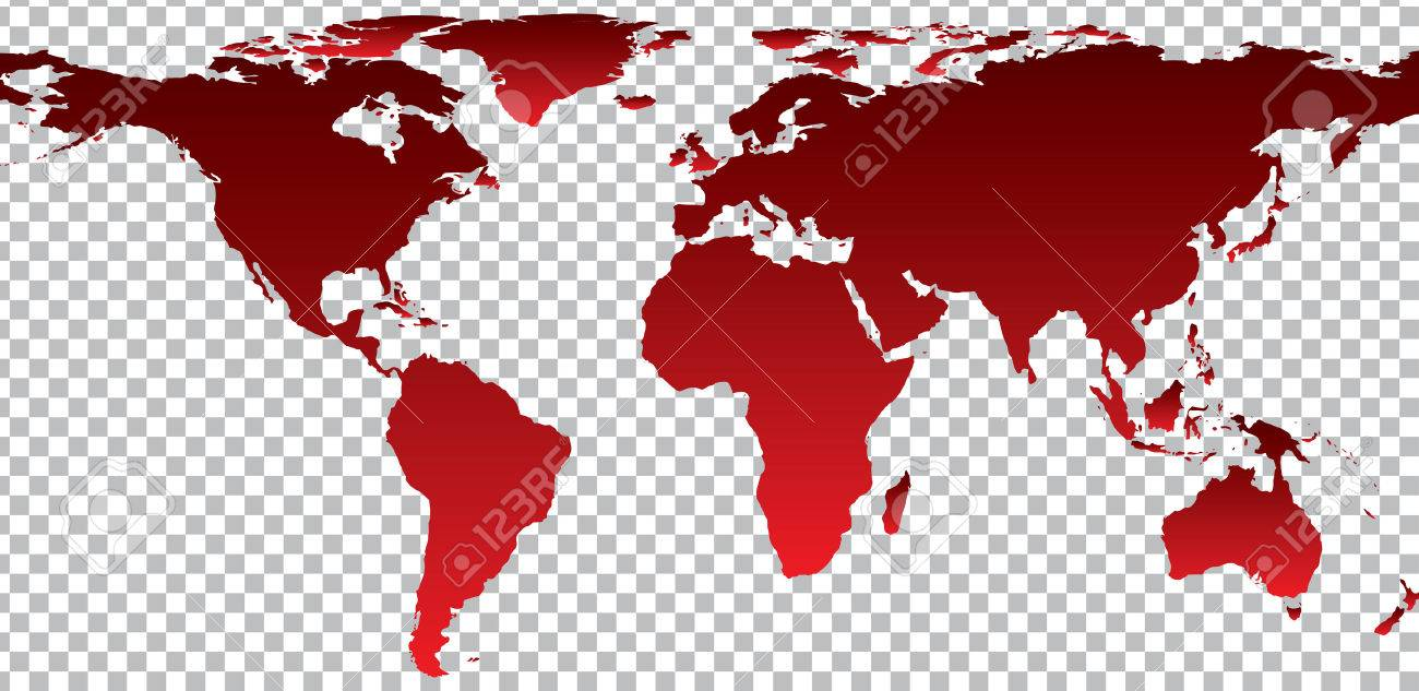 Red map of world on transparent background vector illustration red map of world on transparent background vector illustration stock vector 46755419 gumiabroncs Images
