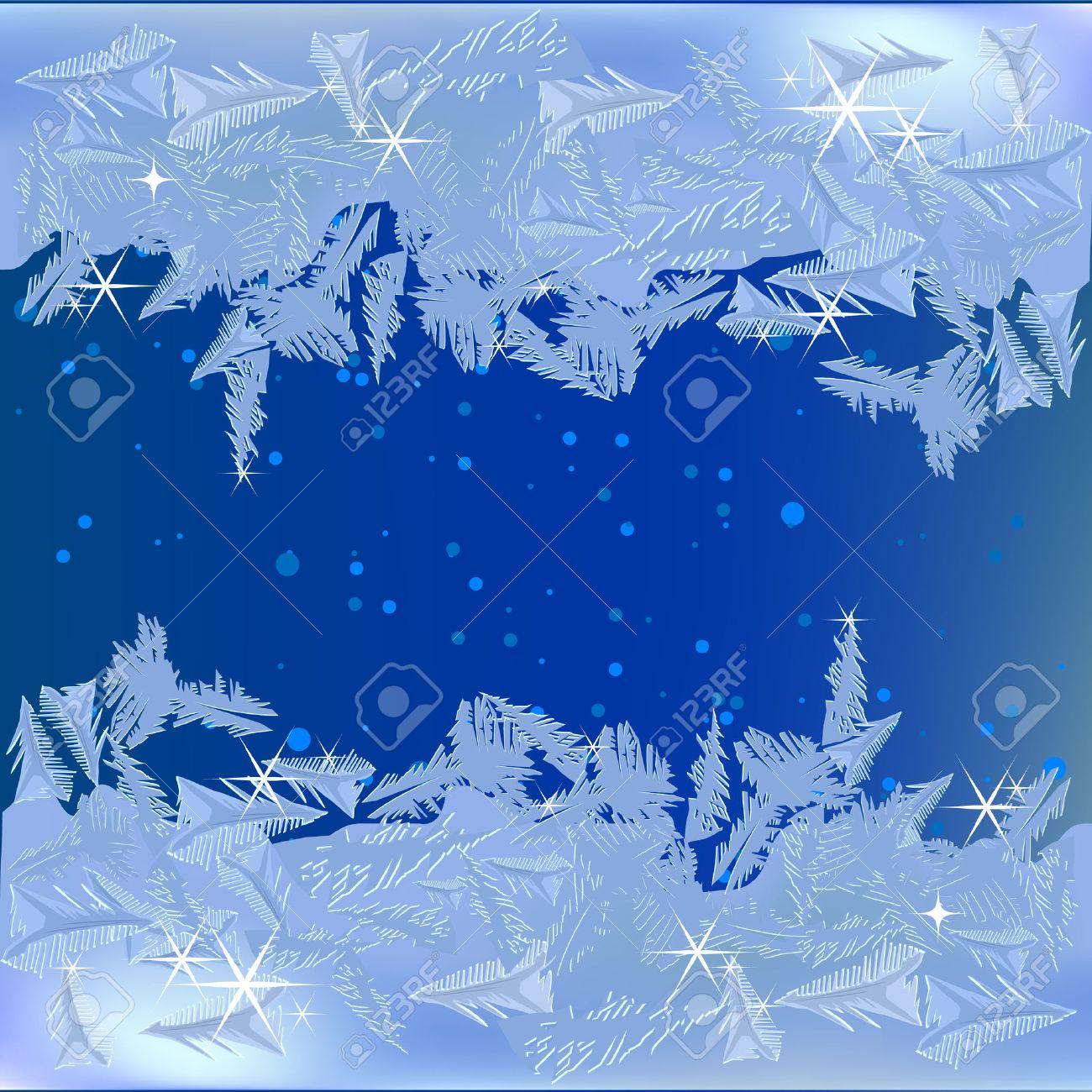 Frozen frost on the window - 8375174