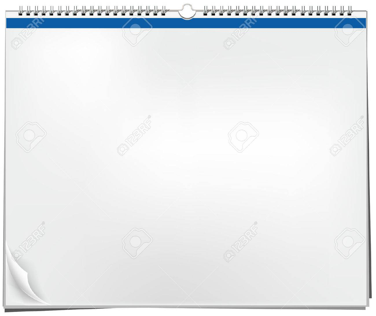 Blank wall calendar with spring - 8769949