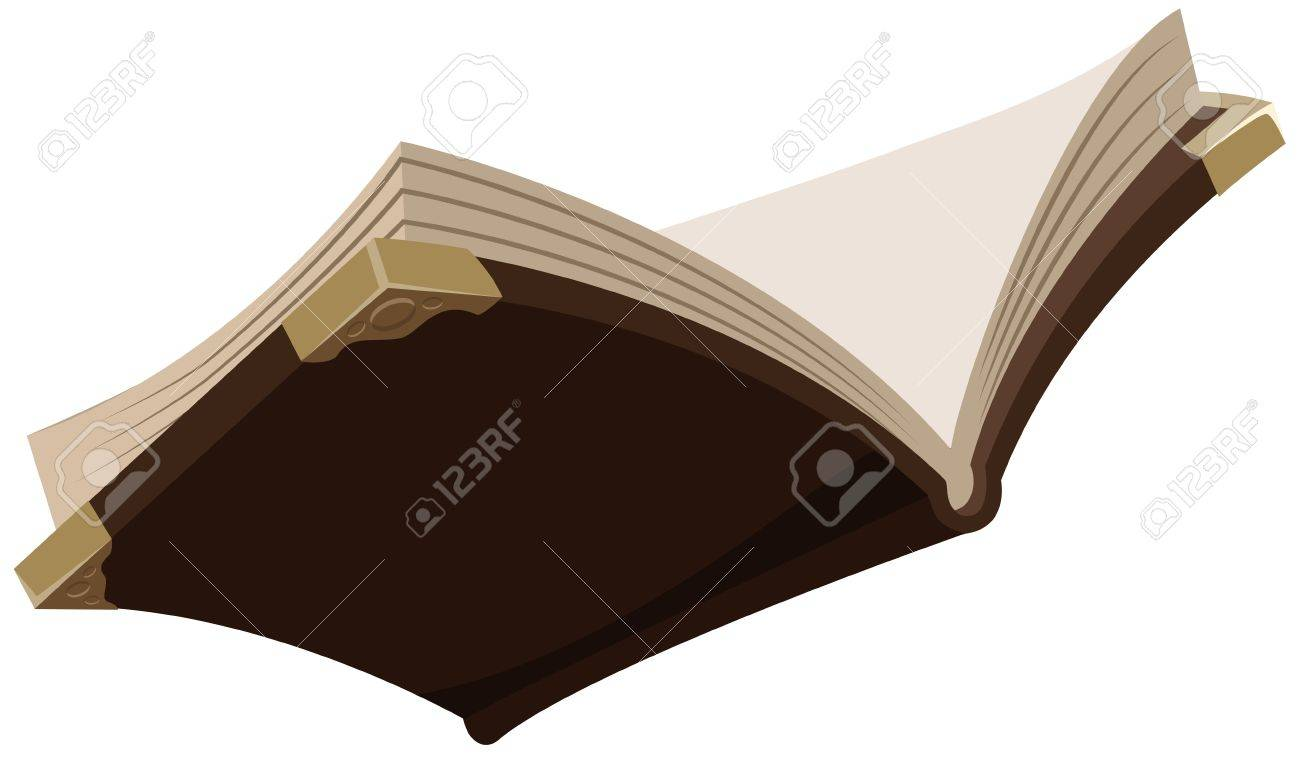 Open magic old book Illustration in vector format - 29261703