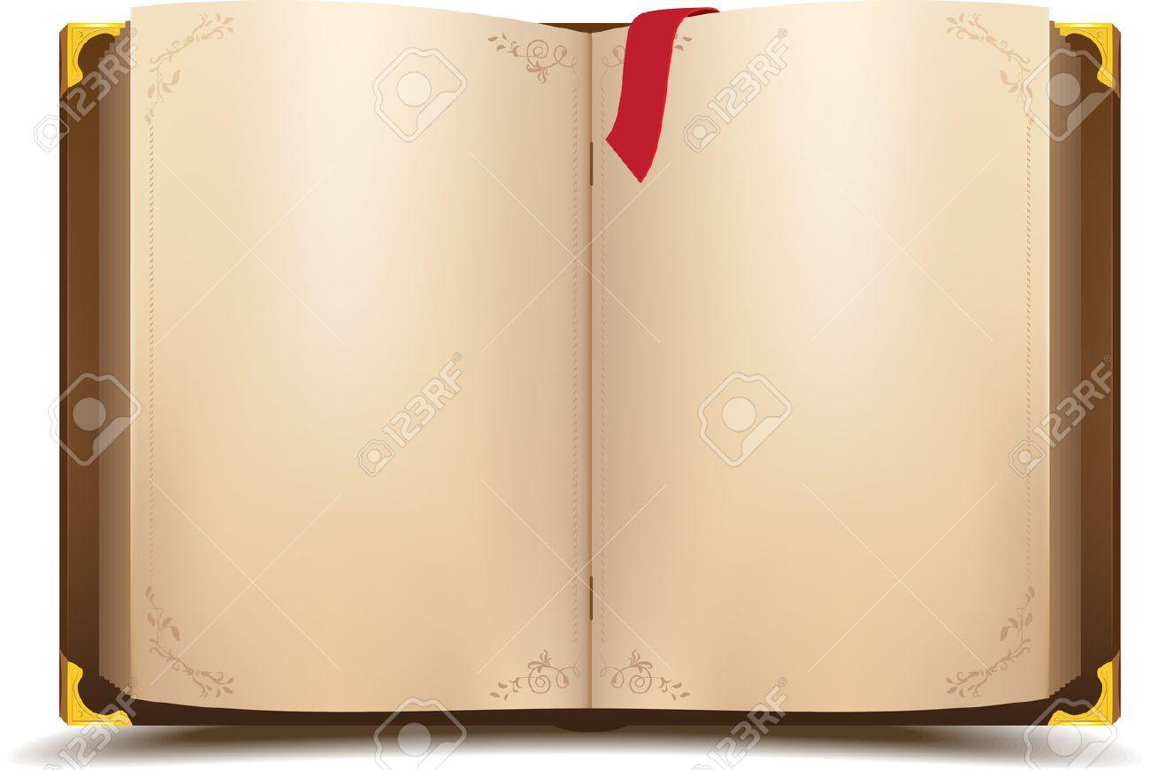 Old open magic book. Vector cartoon illustration - 29856936
