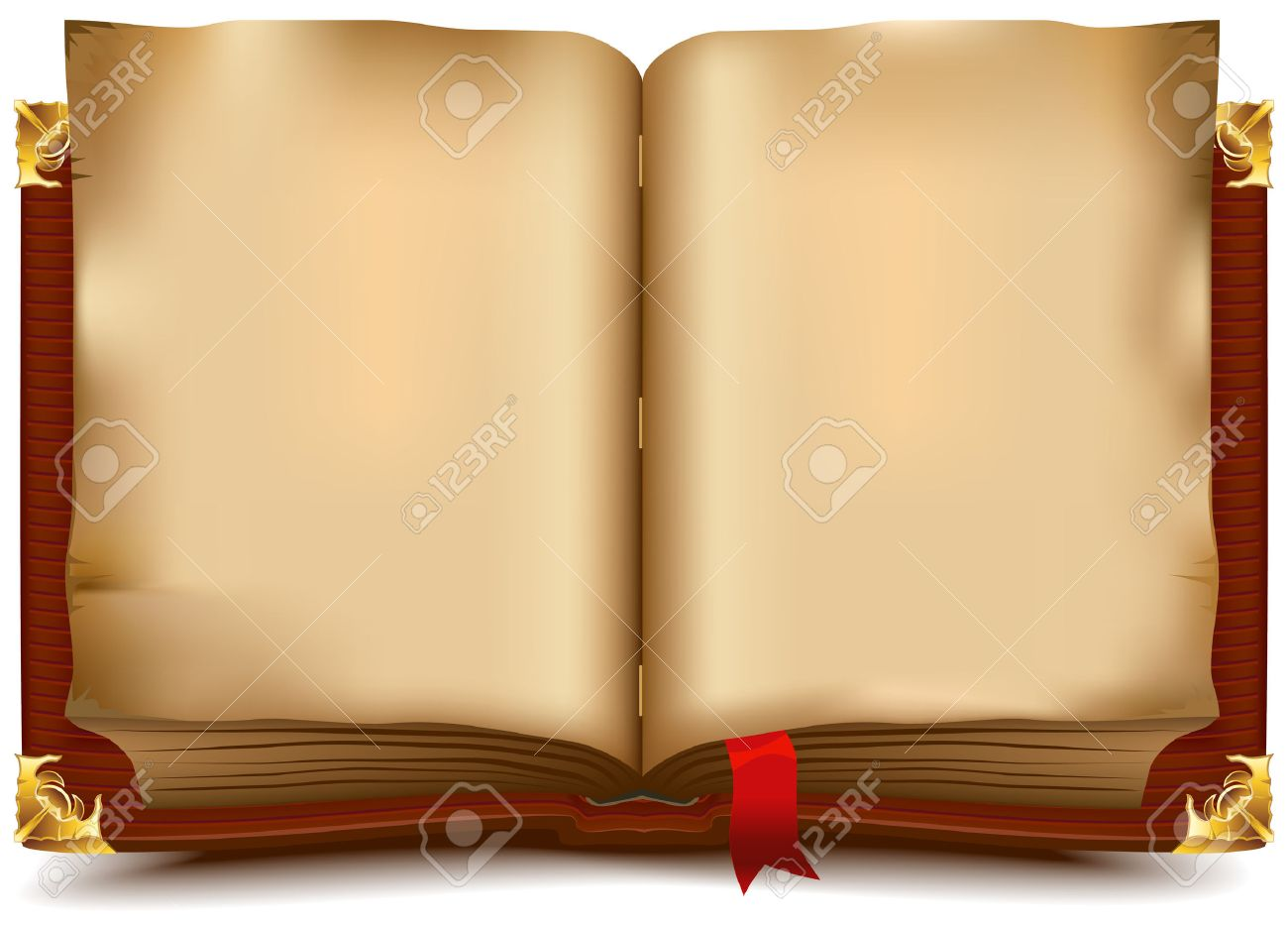 Old open book. Illustration in vector format - 31731747