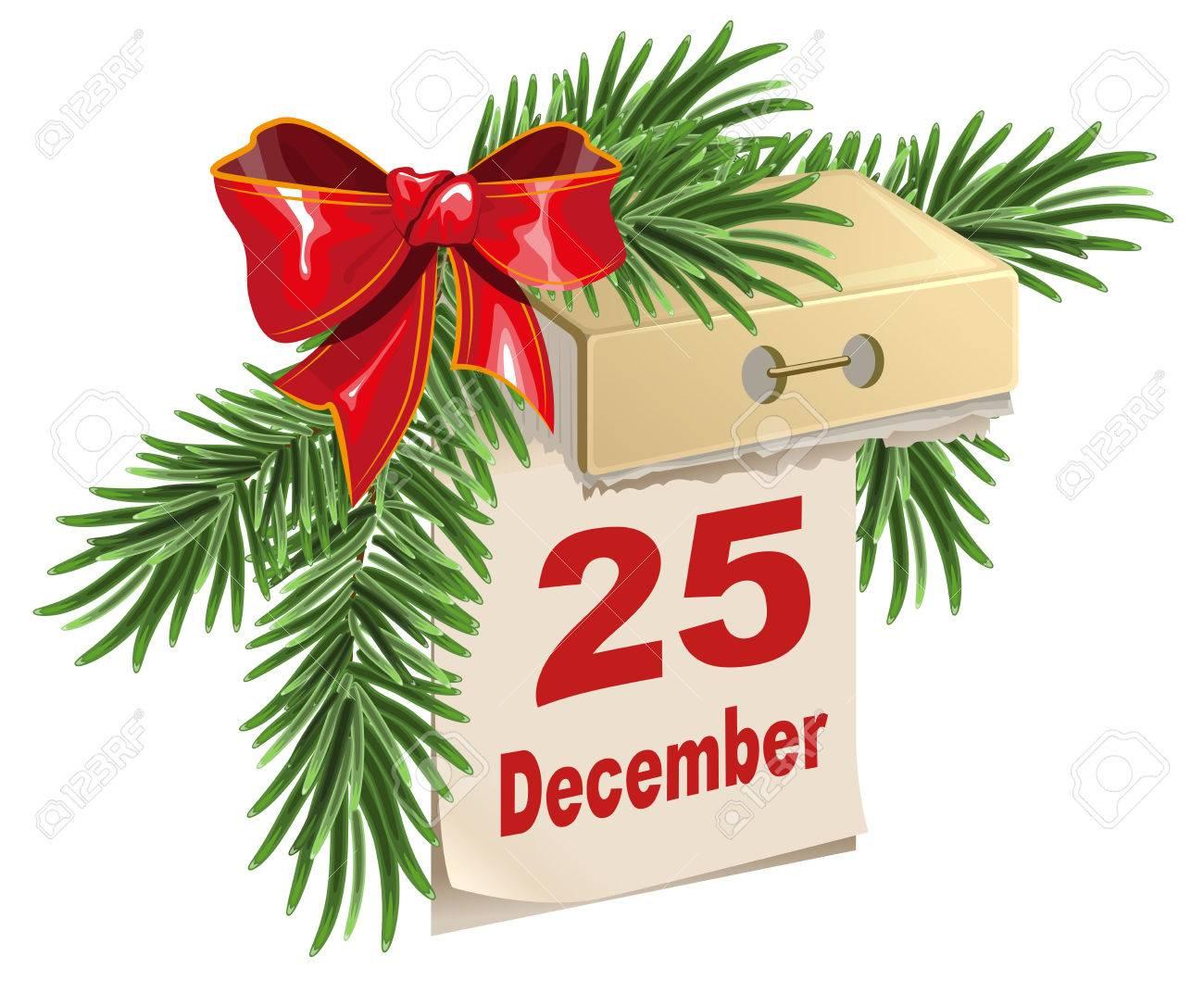 12 月 25 日日めくりカレンダー...