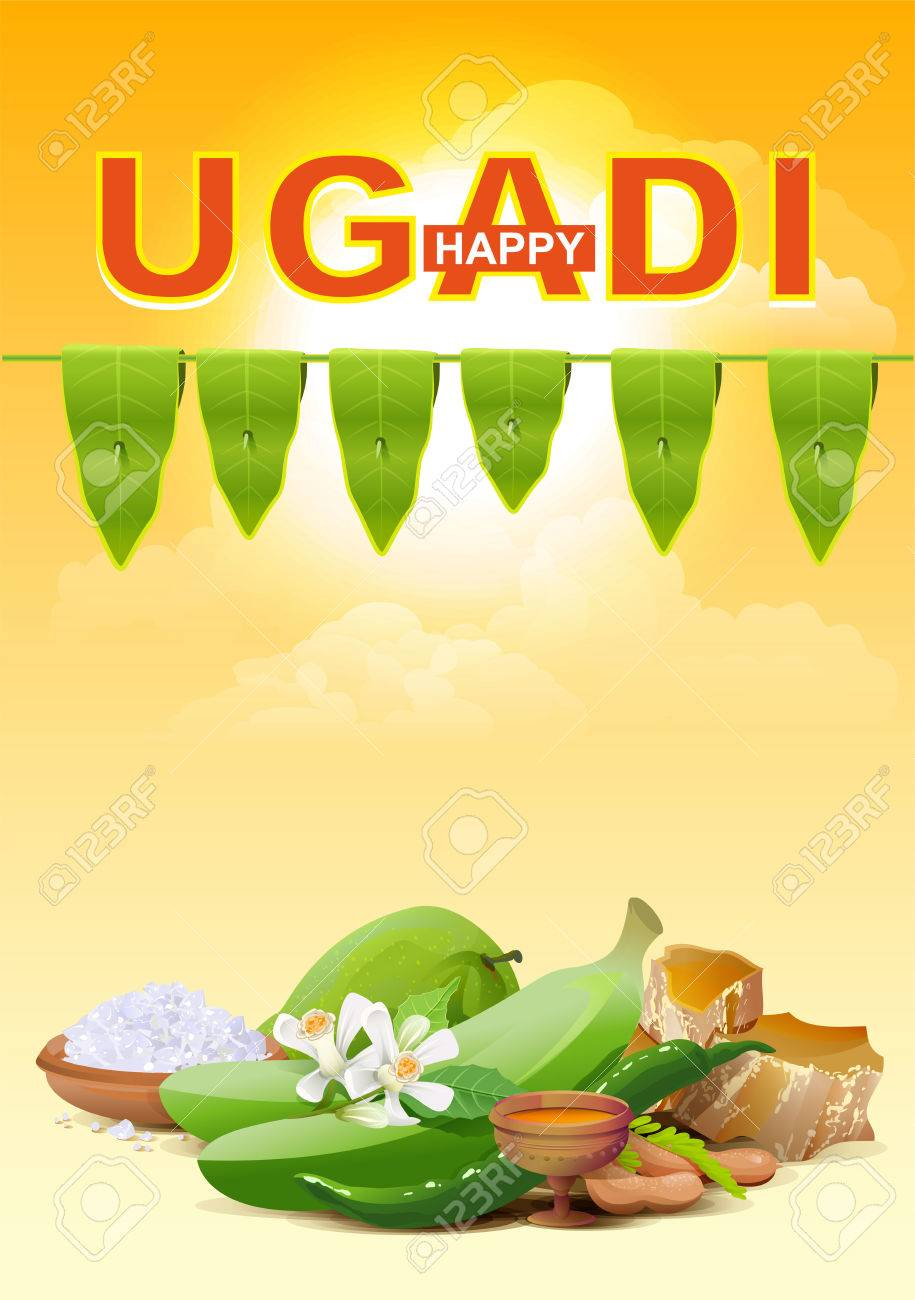 Happy ugadi template greeting card for holiday ugadi illustration happy ugadi template greeting card for holiday ugadi illustration in vector format stock vector kristyandbryce Images