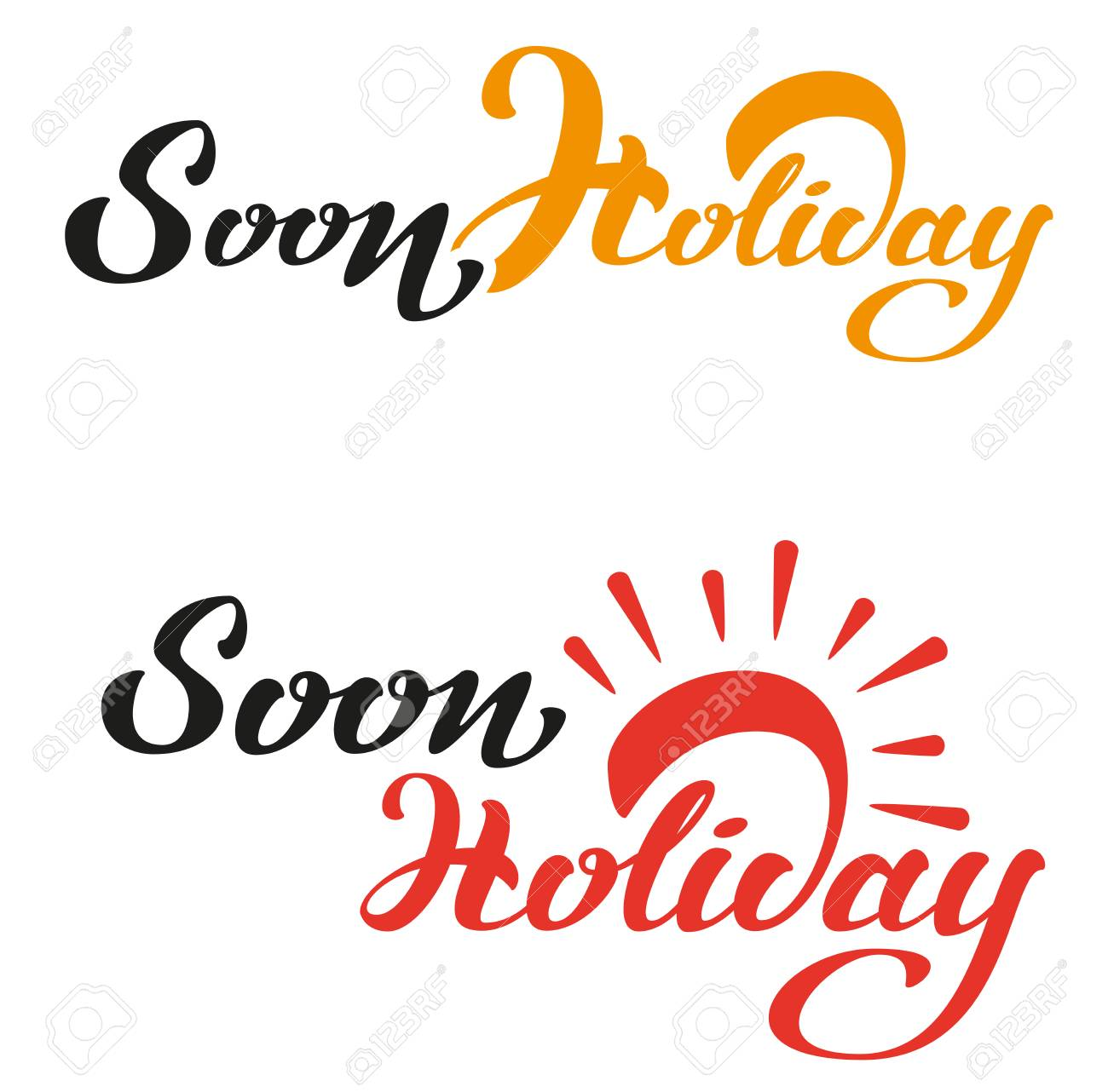 soon holiday lettering text isolated illustration title royalty rh 123rf com holiday background vectors holiday vector art