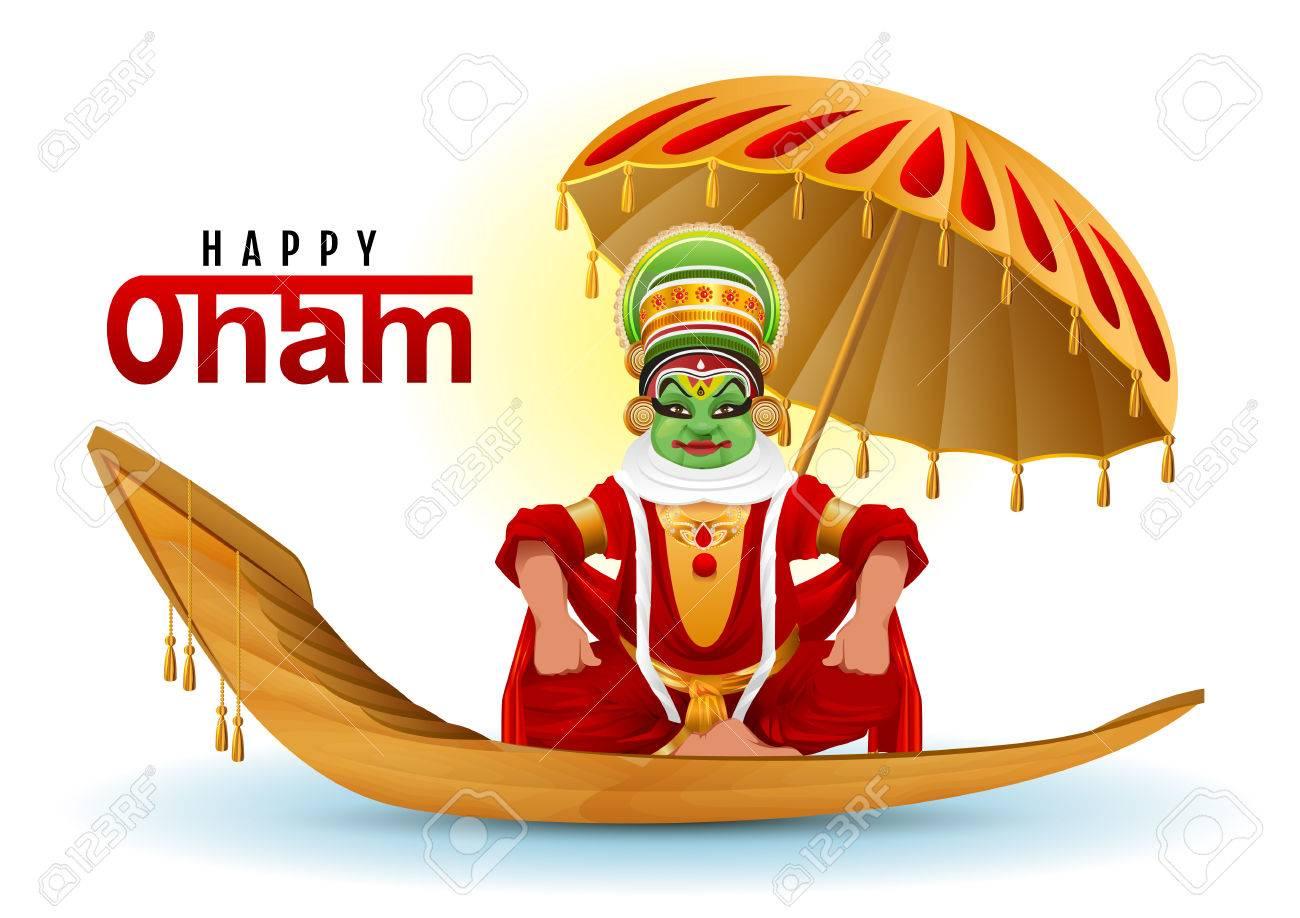 Happy onam greeting card hindu festival of kerala in india royalty happy onam greeting card hindu festival of kerala in india stock vector 84214349 m4hsunfo