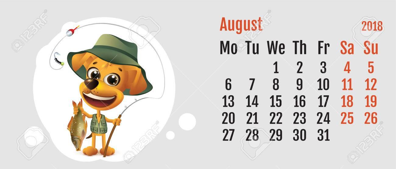 2018 año de perro amarillo en el calendario chino pescador del