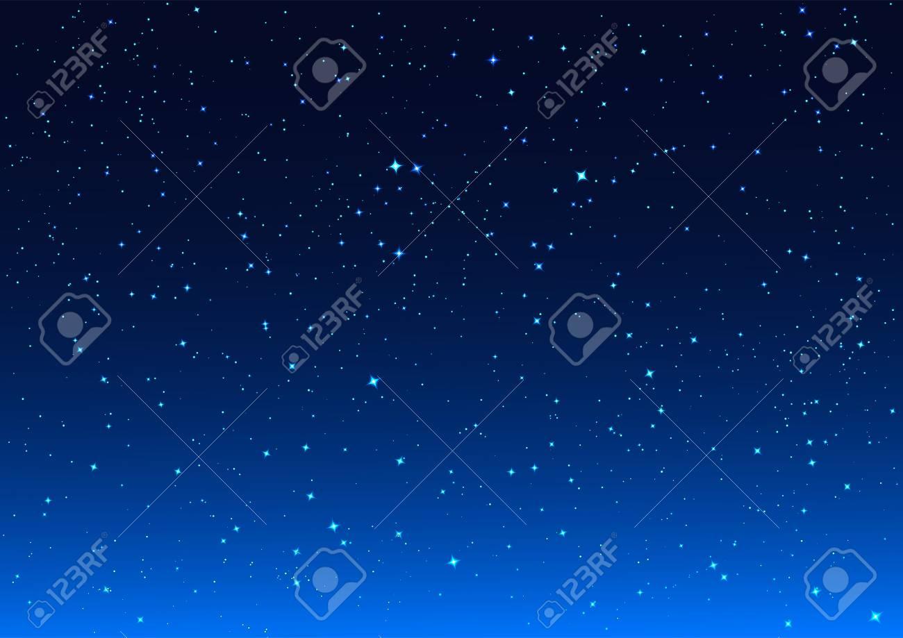 Vettoriale Stelle Luminose In Blu Scuro Sfondo Di Notte