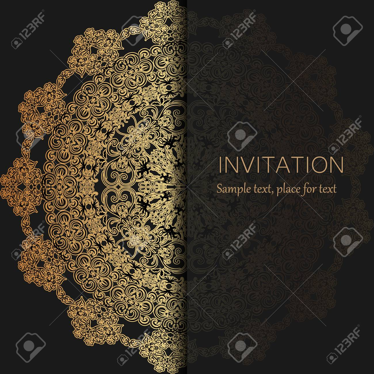 Invitation Template Modern Design Wedding Or Card With Abstract BackgroundVector