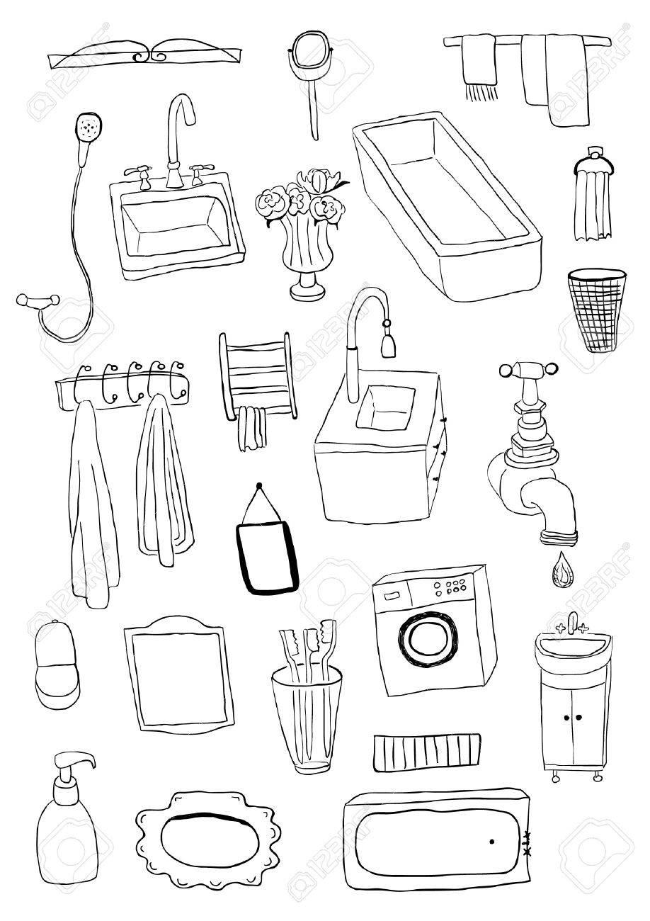 archivio fotografico oggetti da bagno