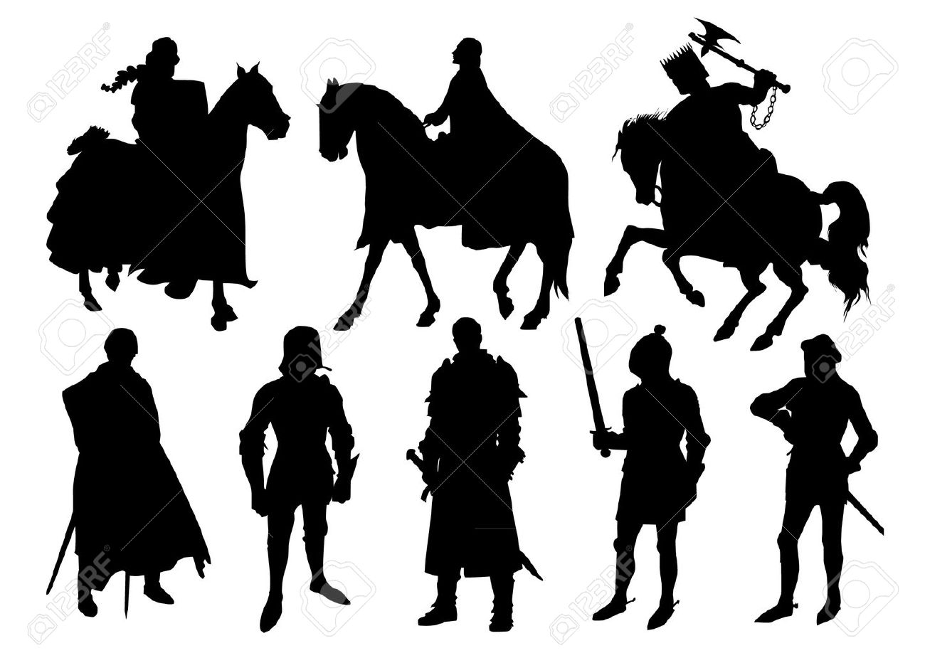 Knight silhouettes Stock Vector - 20284495