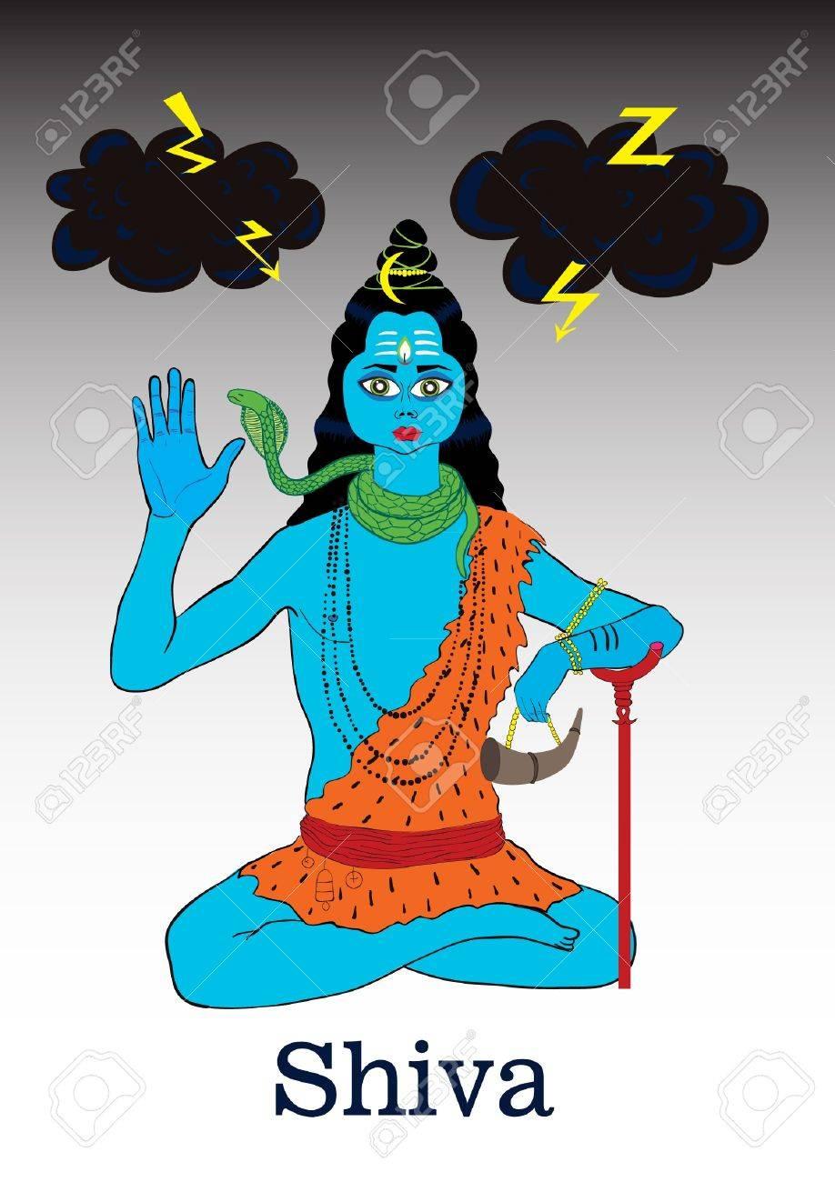 Sitting Shiva Stock Vector - 20284555