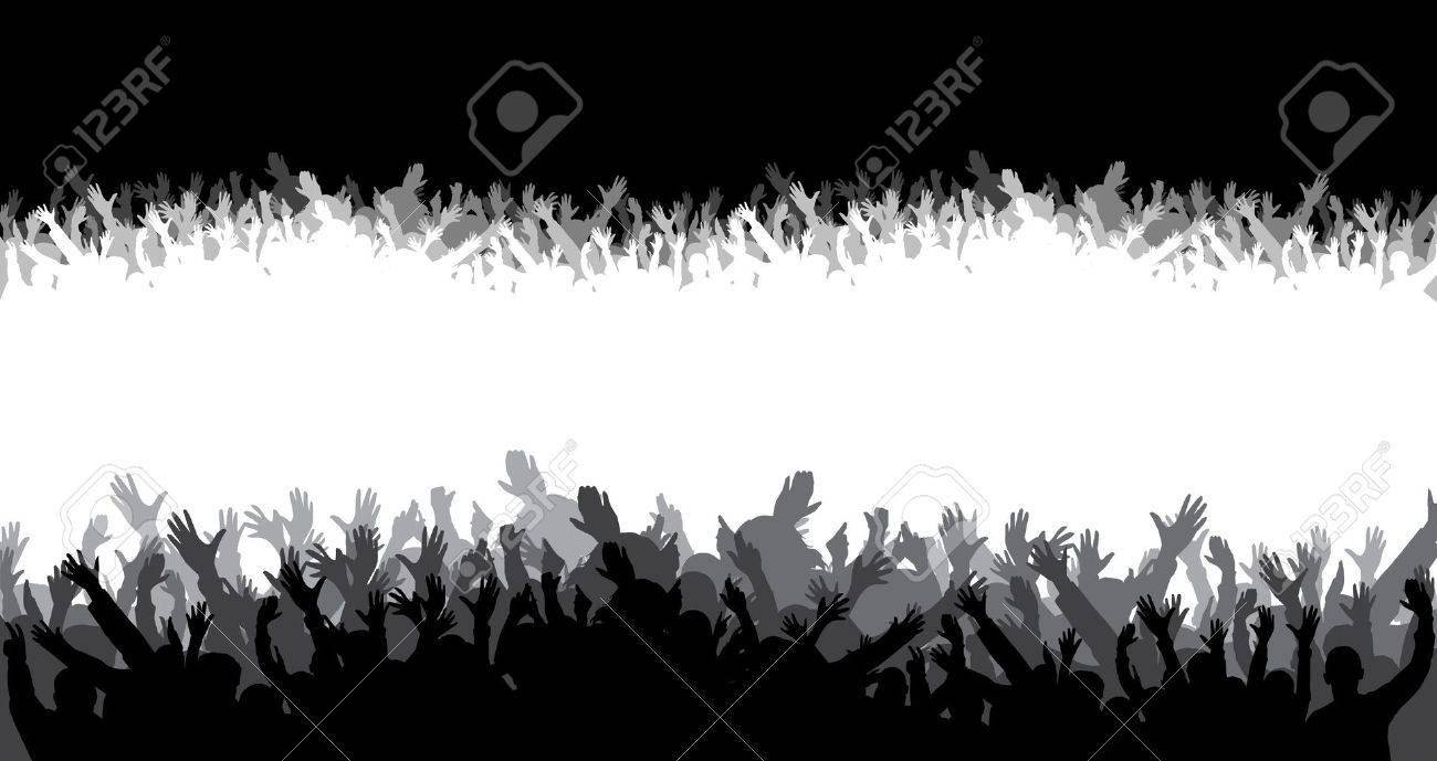 Crowd Silhouette Vector Crowd Silhouette Vector
