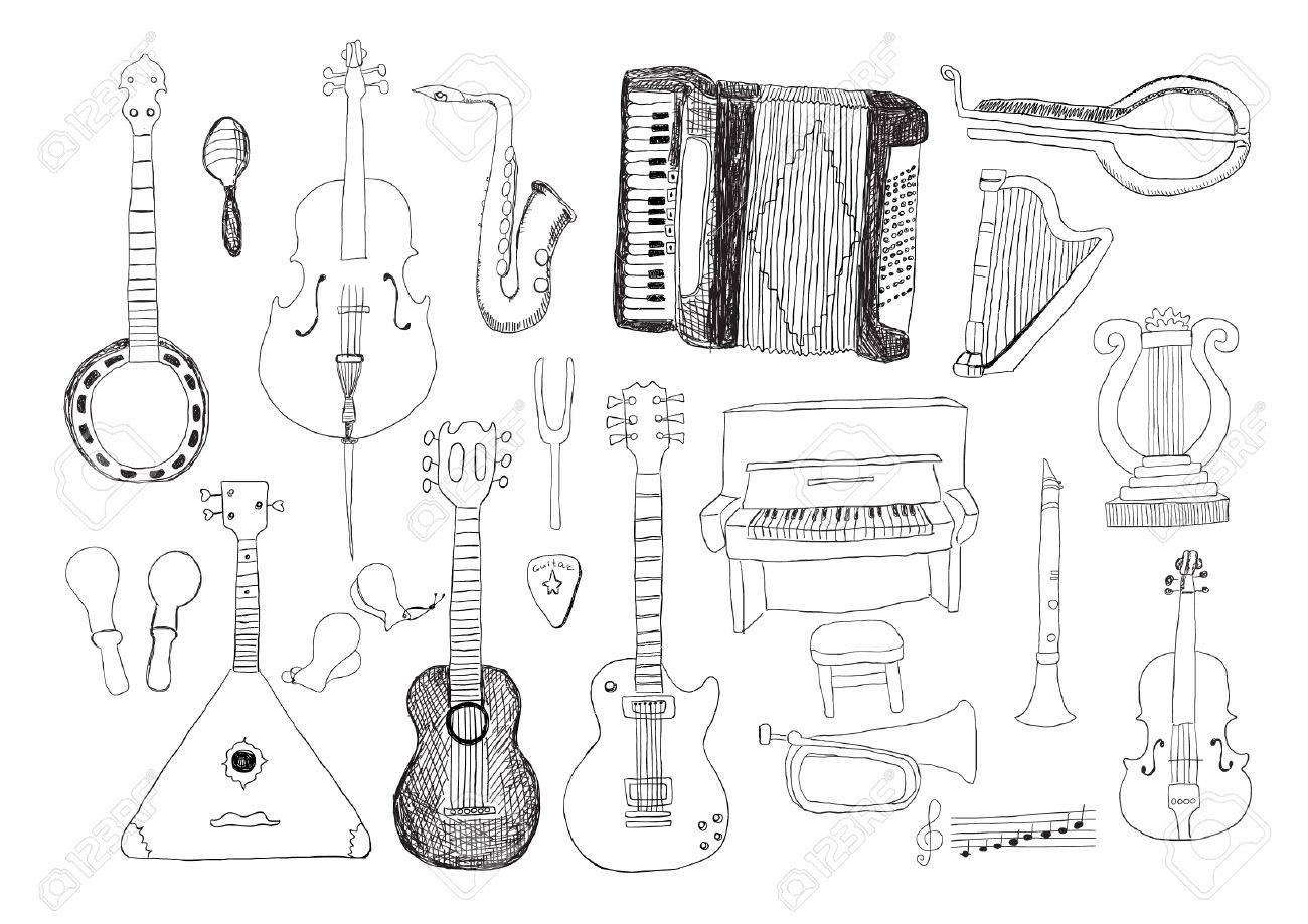Music Instruments Stock Vector - 20735110