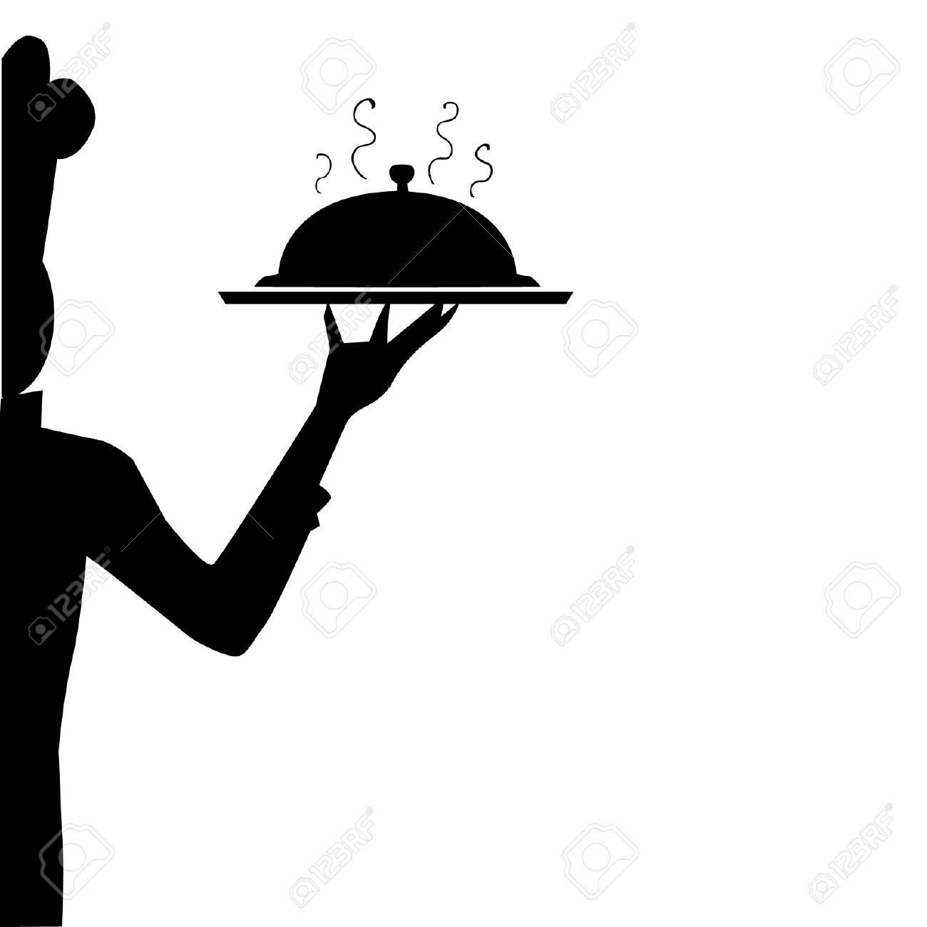 chef silhouette royalty free cliparts vectors and stock rh 123rf com Chef Silhouette Graphics Pastry Chef Clip Art