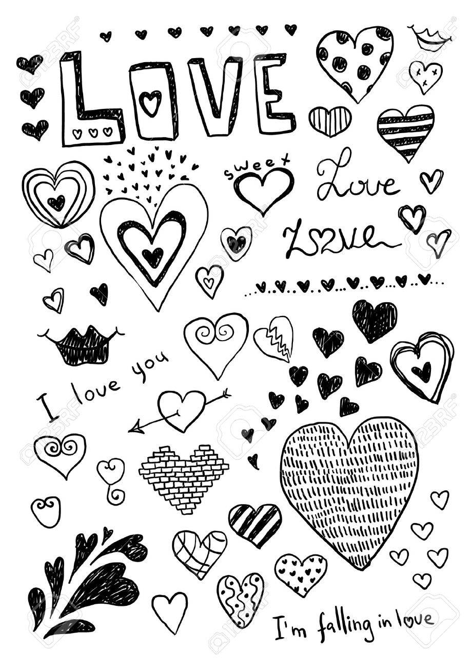 Heart Doodles Royalty Free Cliparts Vectors And Stock Illustration Image 25117918
