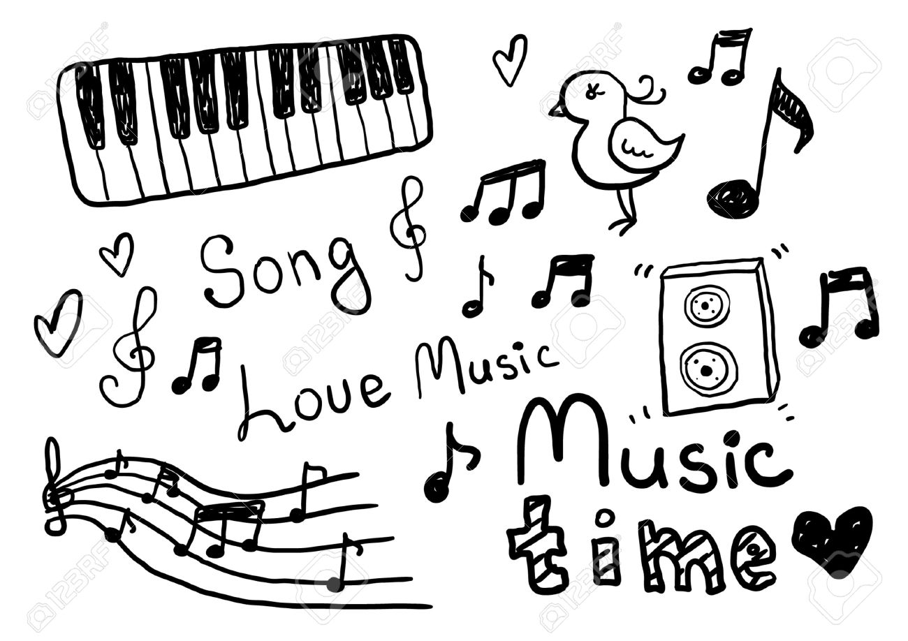 Music sketches stock vector 25117919