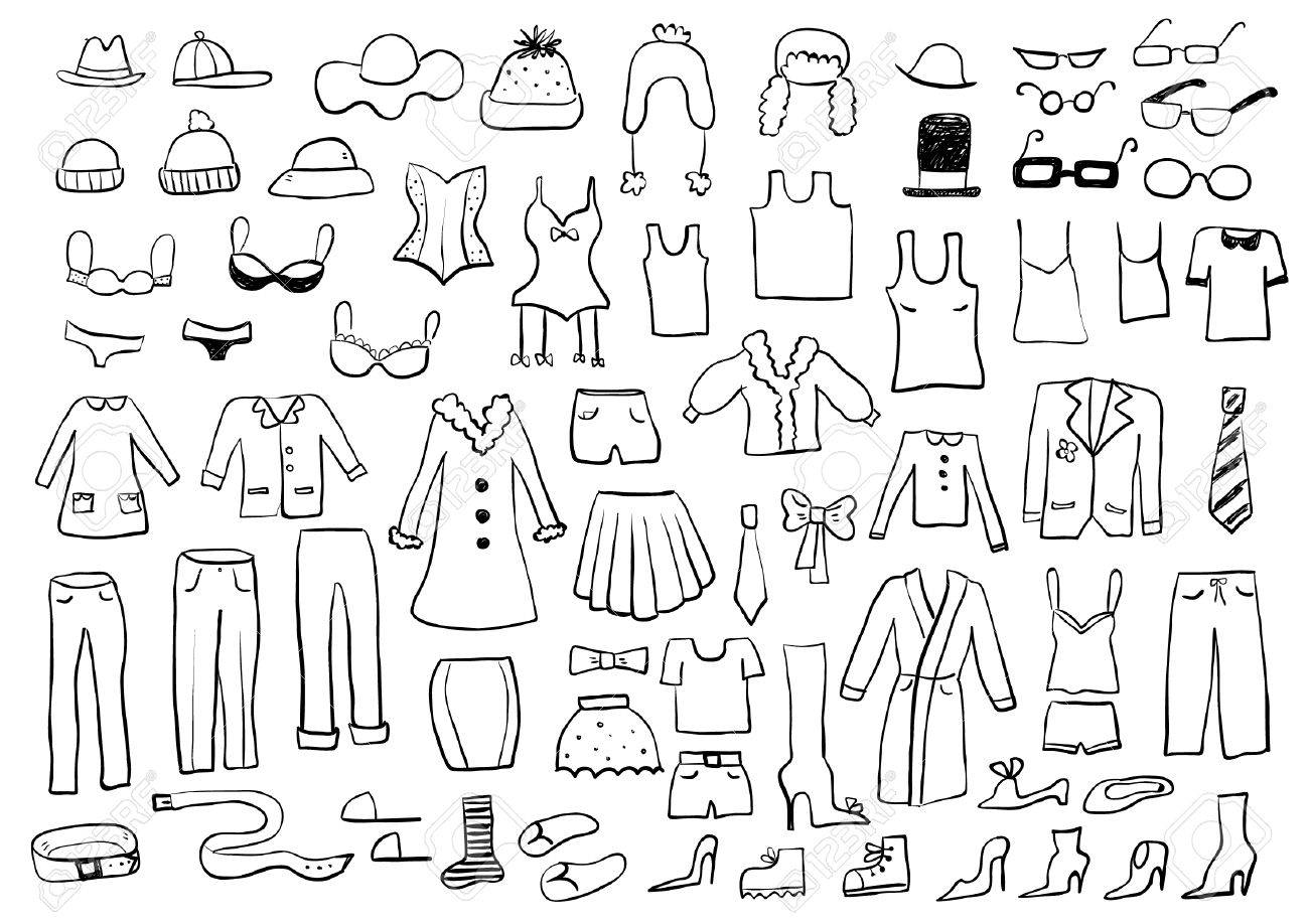 Clothes Sketches Royalty Free Cliparts, Vectors, And Stock ...