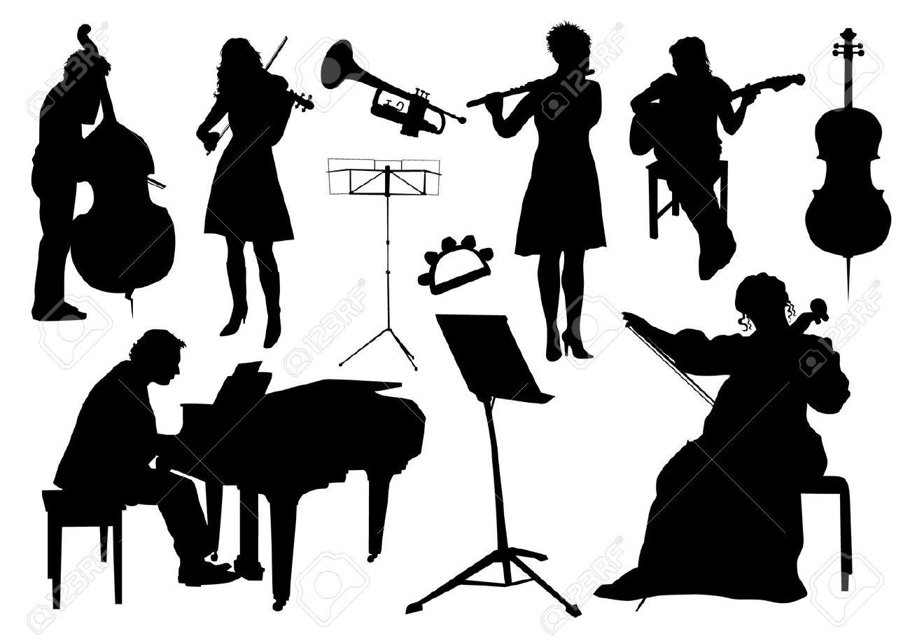 オーケストラのシルエットのイラスト素材ベクタ Image 31863320