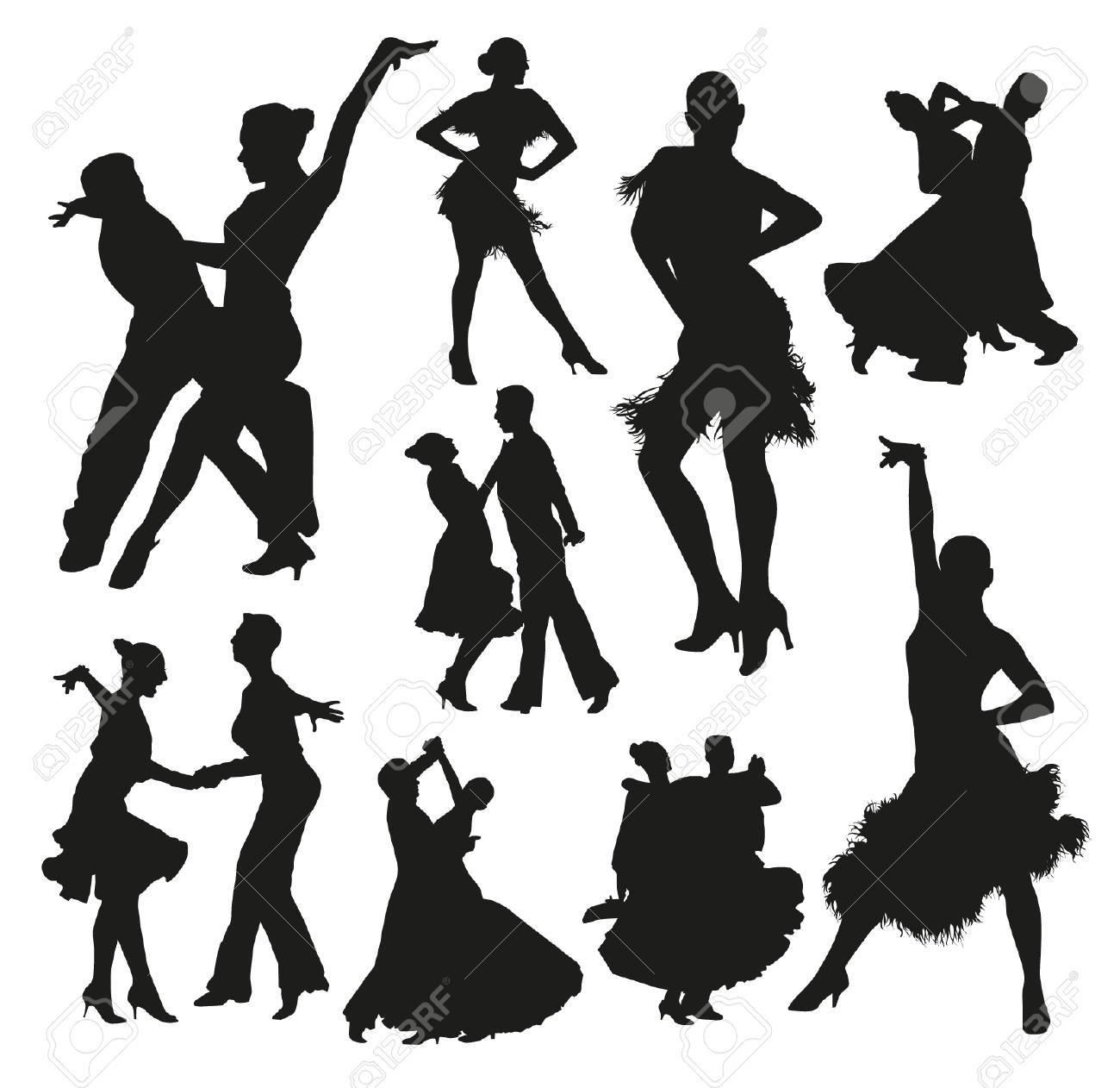 社交ダンス シルエットのイラスト素材ベクタ Image 38143881