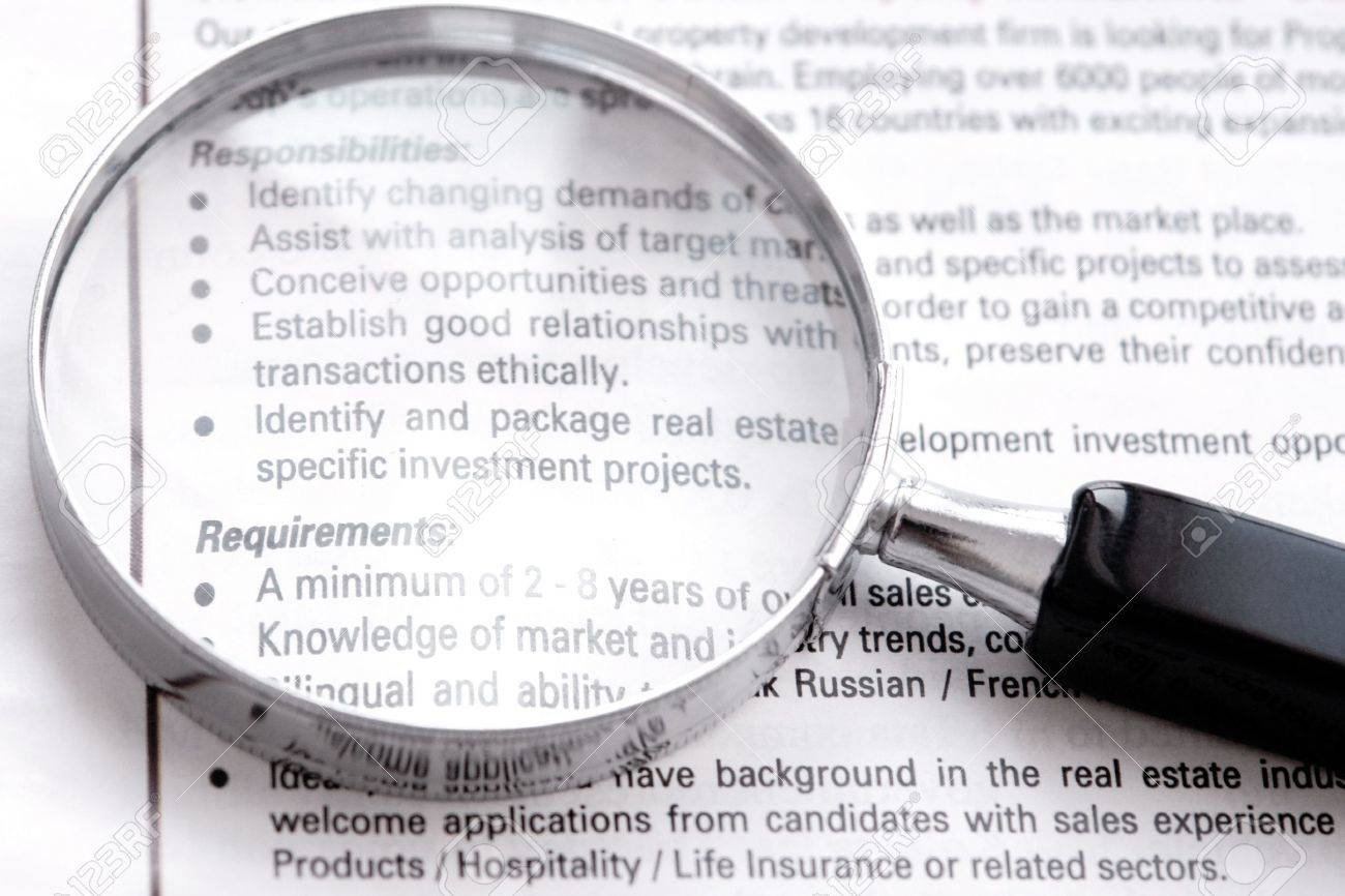 Search job on newspaper ad Stock Photo - 9711605