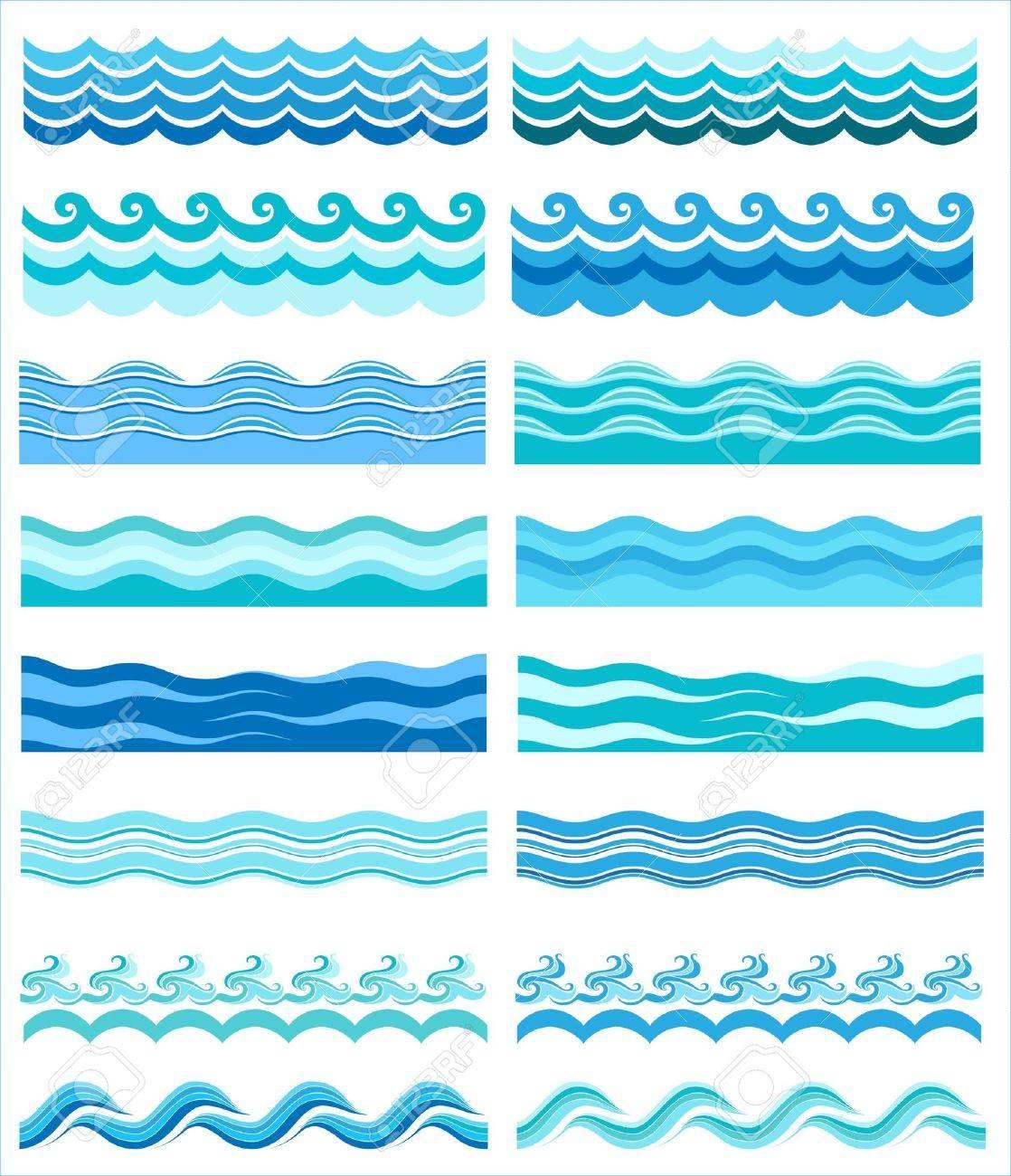 Seamless wave patterns - 11251763