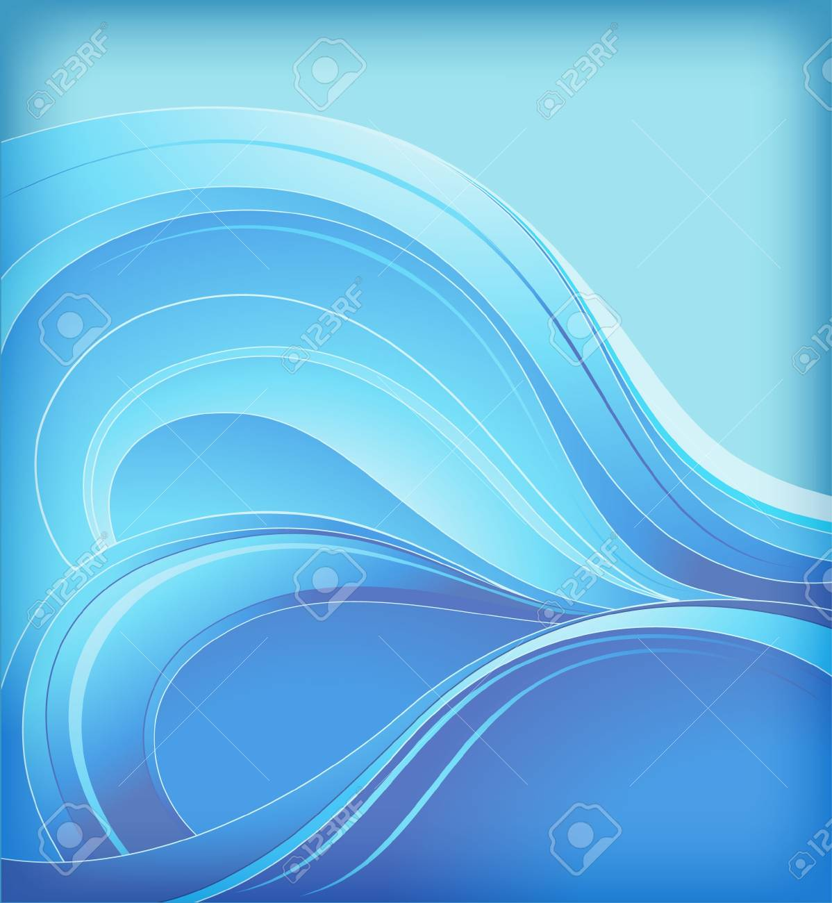 abstract background with sea waves - 11251783