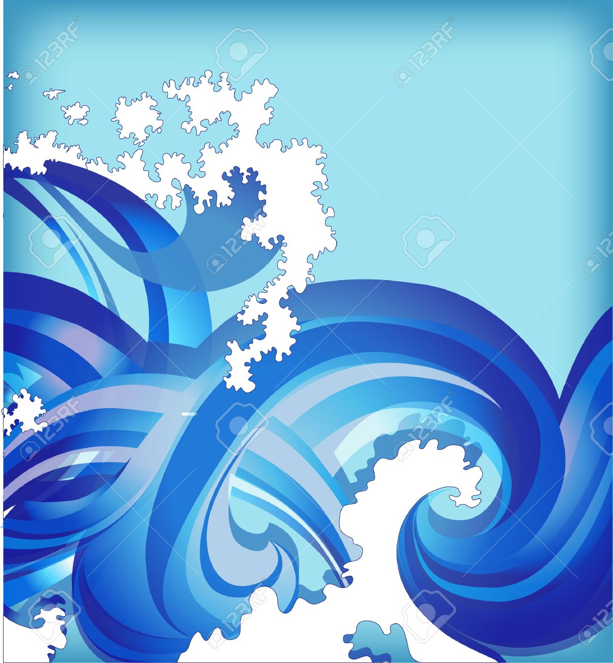 abstract background with sea waves - 11251798