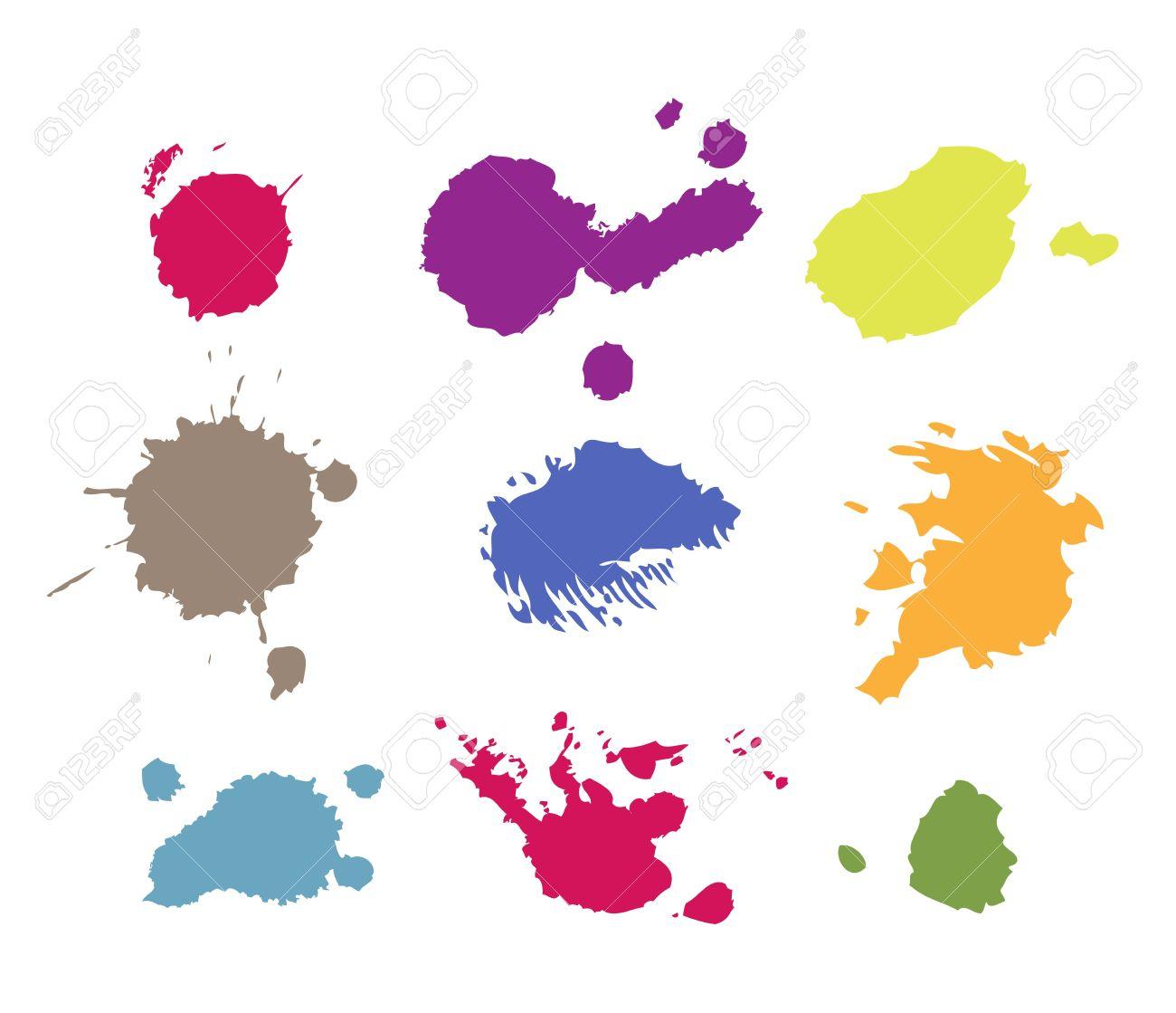 grunge paint splashes drips and splatter royalty free cliparts rh 123rf com paint splatter vector free paint splatter vector brushes illustrator
