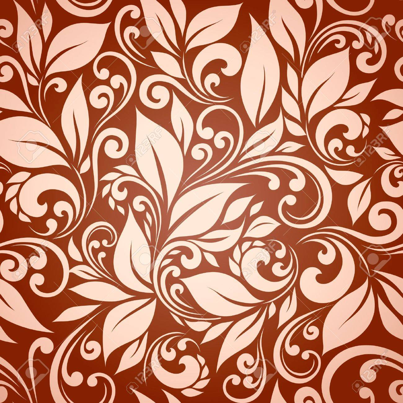 seamless floral background - 12422957
