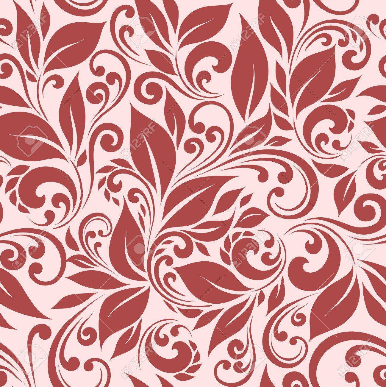seamless floral background - 12422969