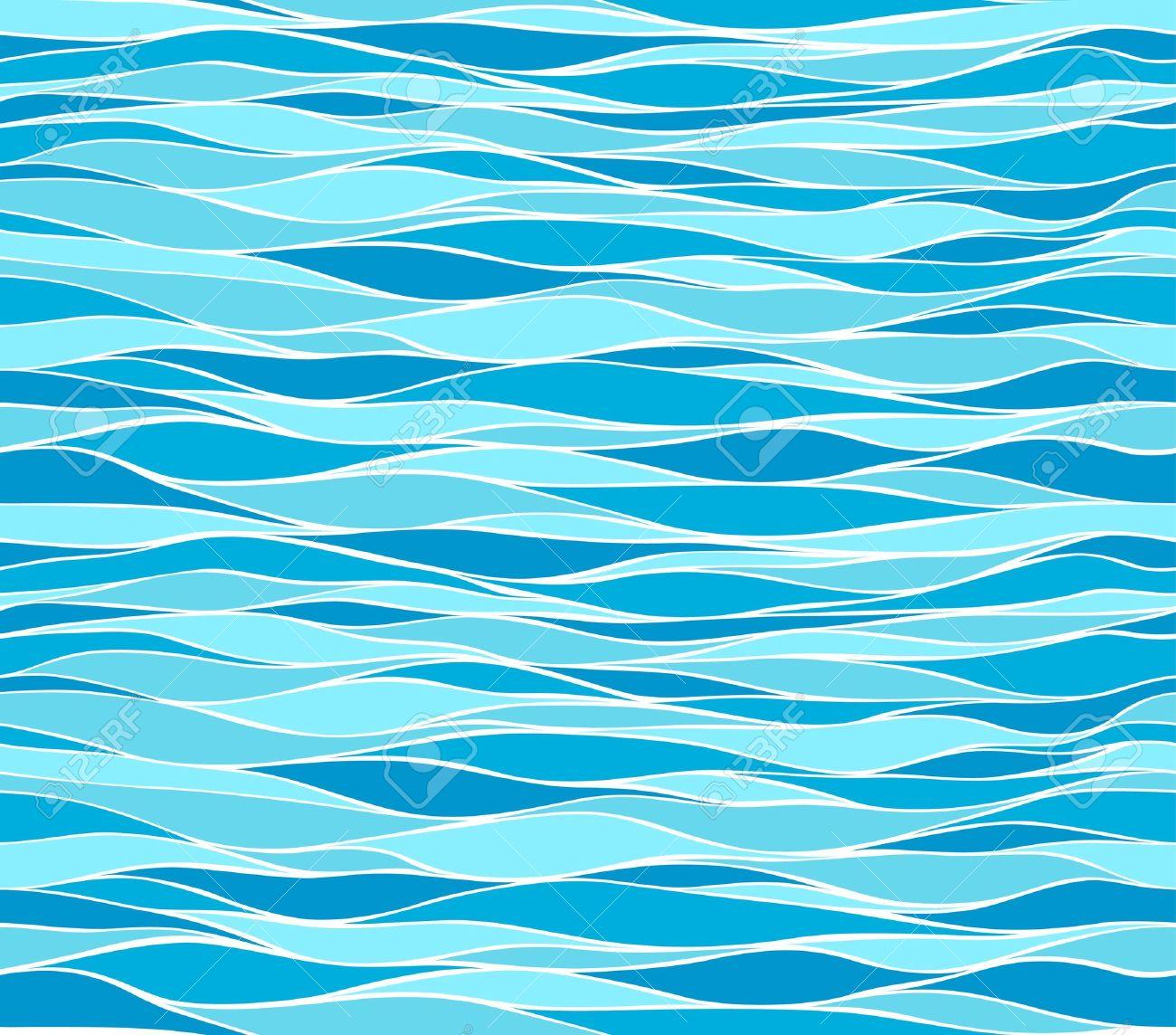 Seamless marine wave patterns - 12789029