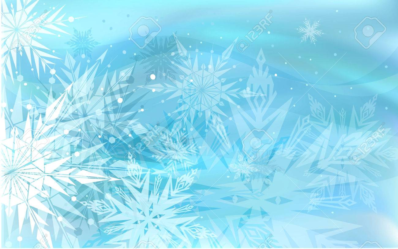 Beautiful blue winter background with snowflakes - 47662857