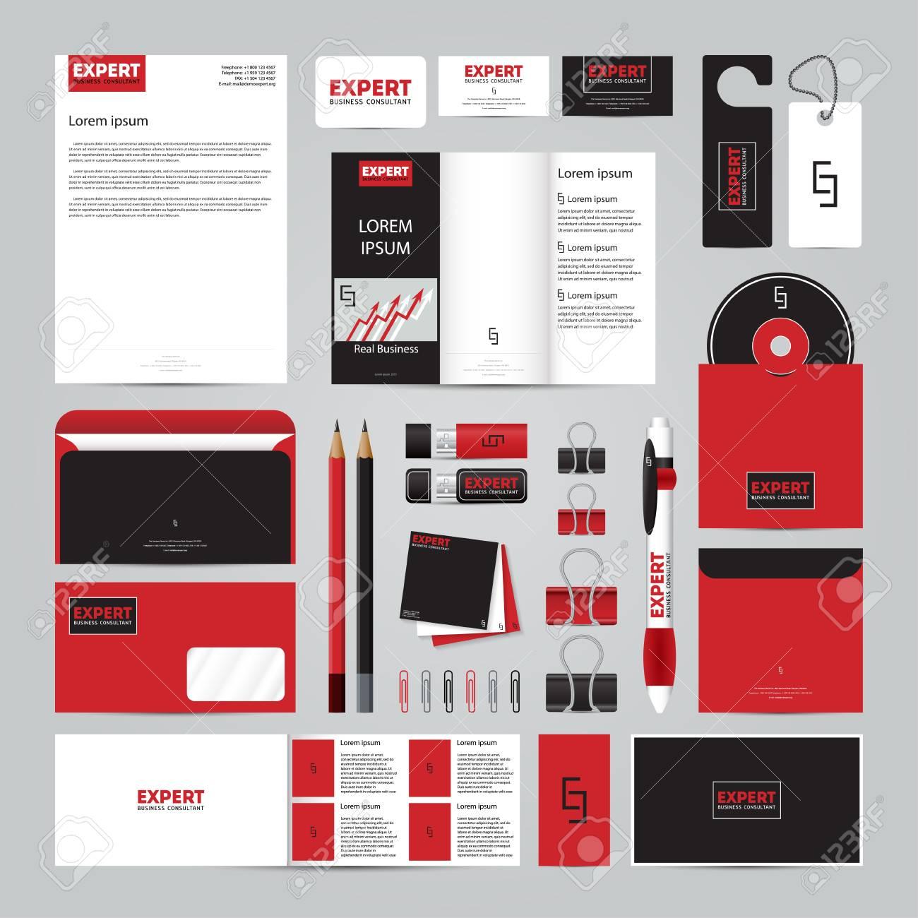 Corporate-Konzept-Identity-Vorlage Festgelegt. Geschäftsdrucksachen ...